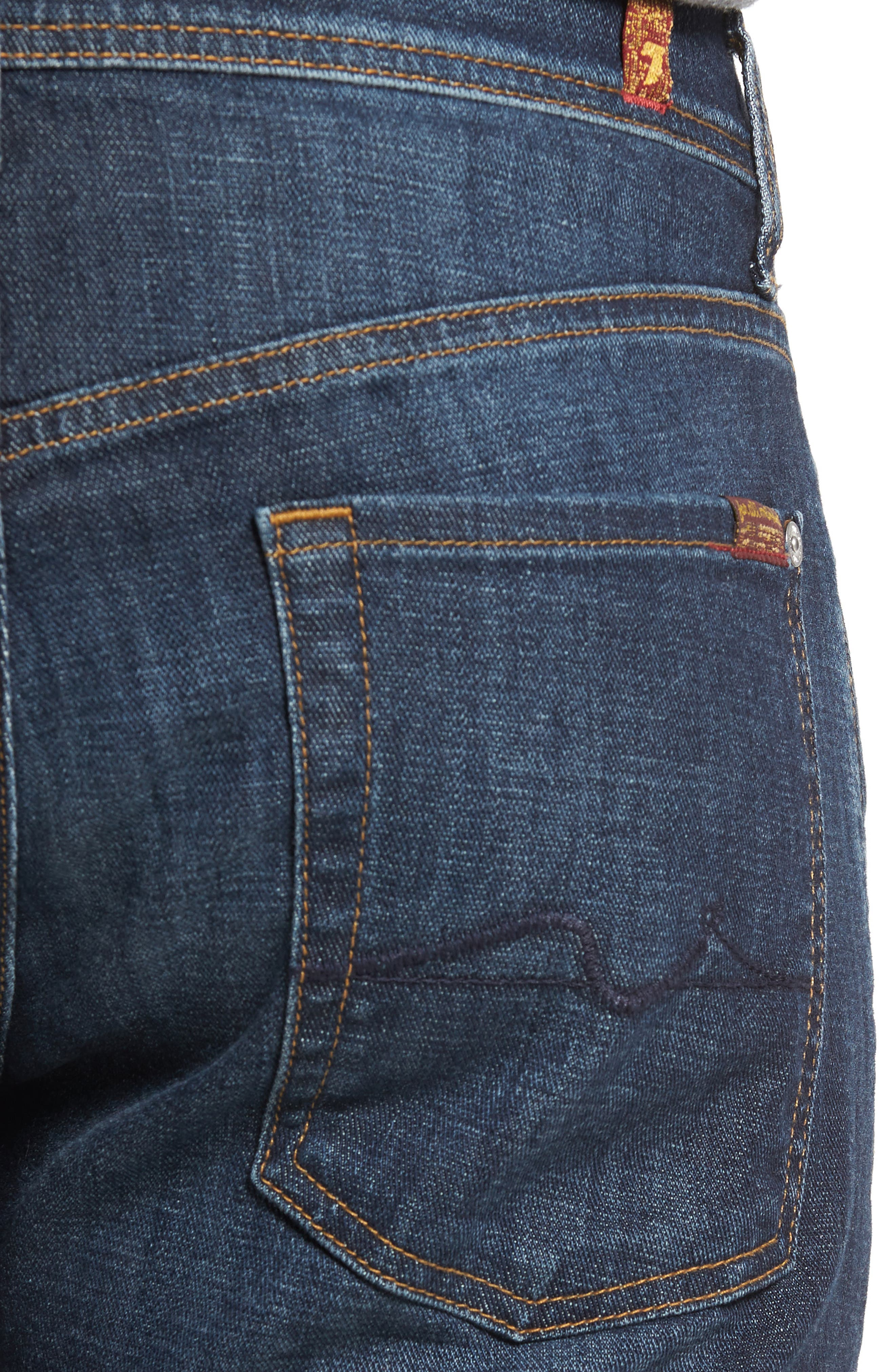 Standard Straight Fit Jeans,                             Alternate thumbnail 4, color,                             Foster