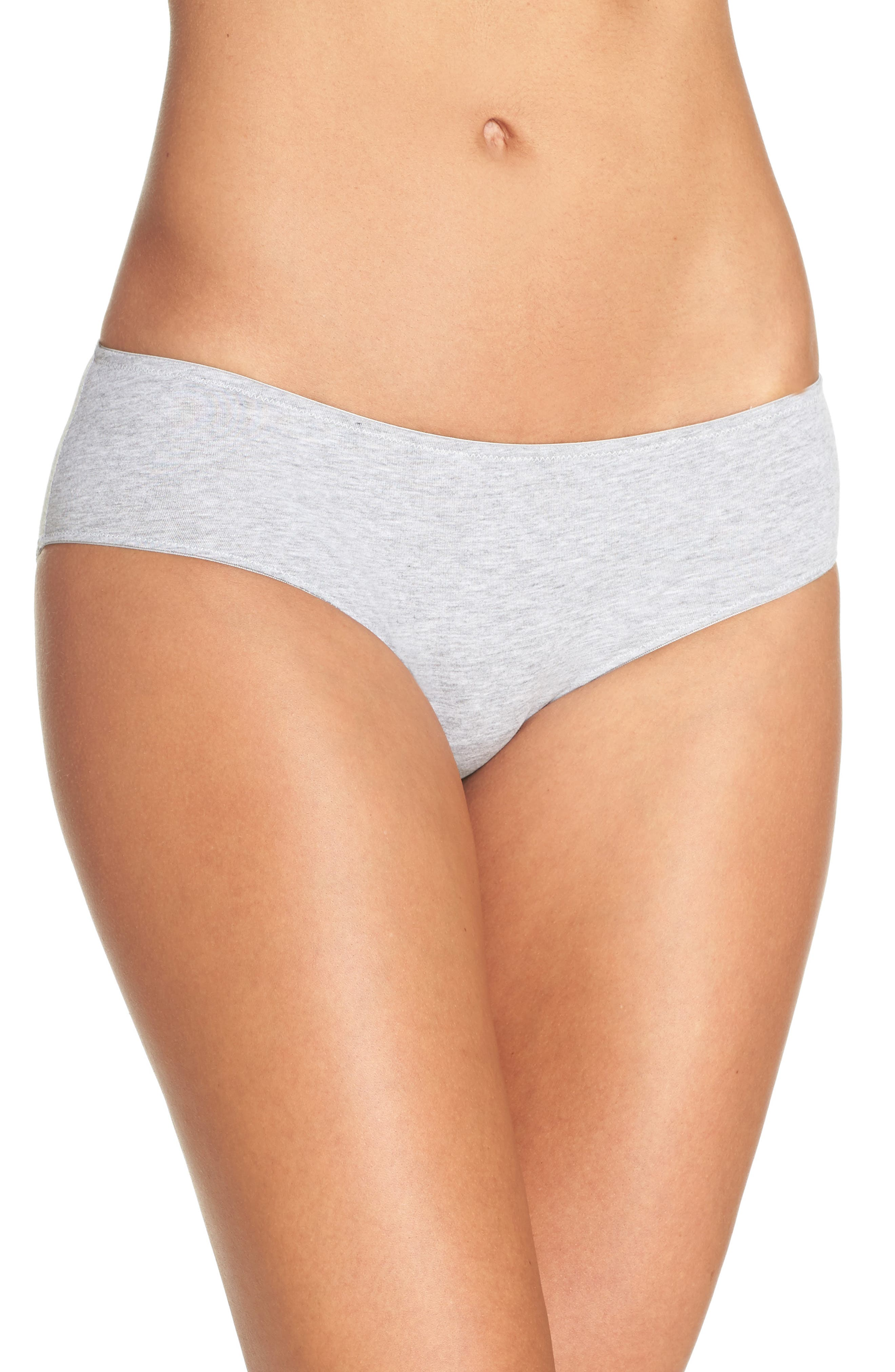 Hipster Panties,                         Main,                         color, Heathered Pelican