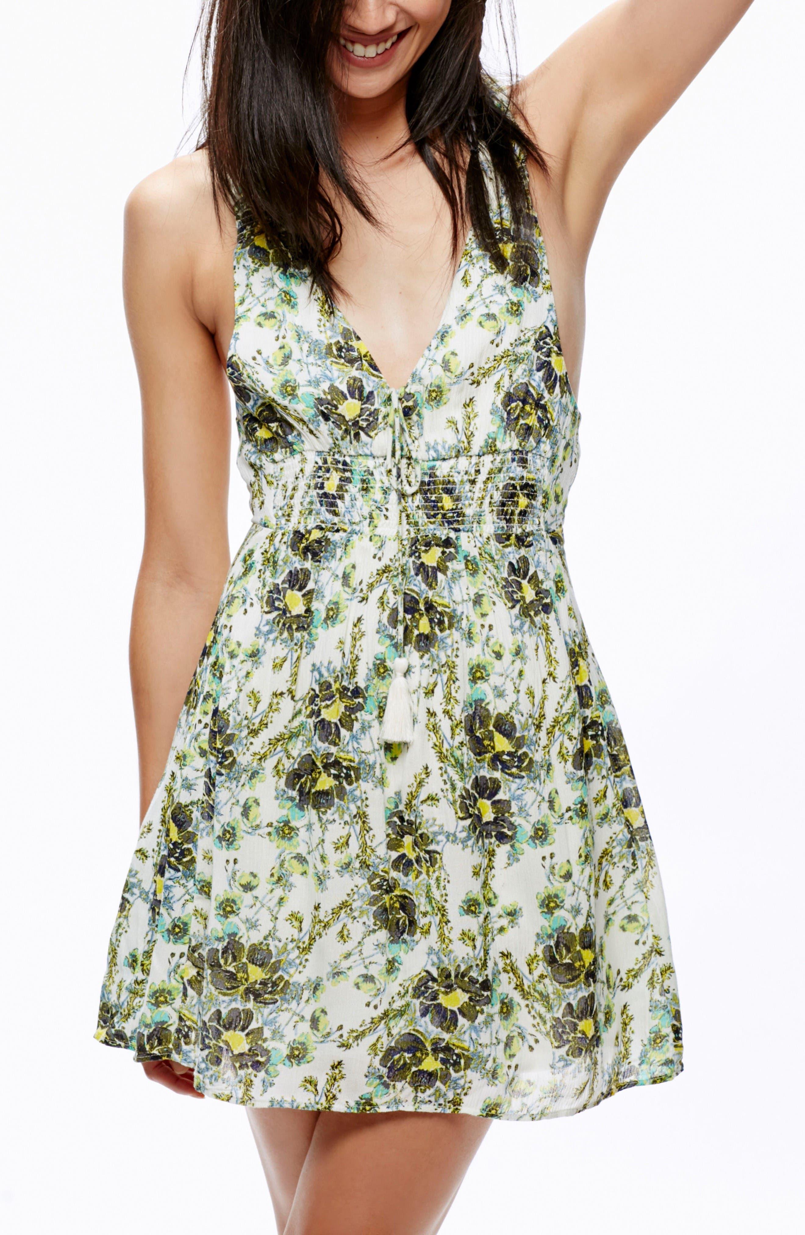 Alternate Image 1 Selected - Free People Floral Print Minidress