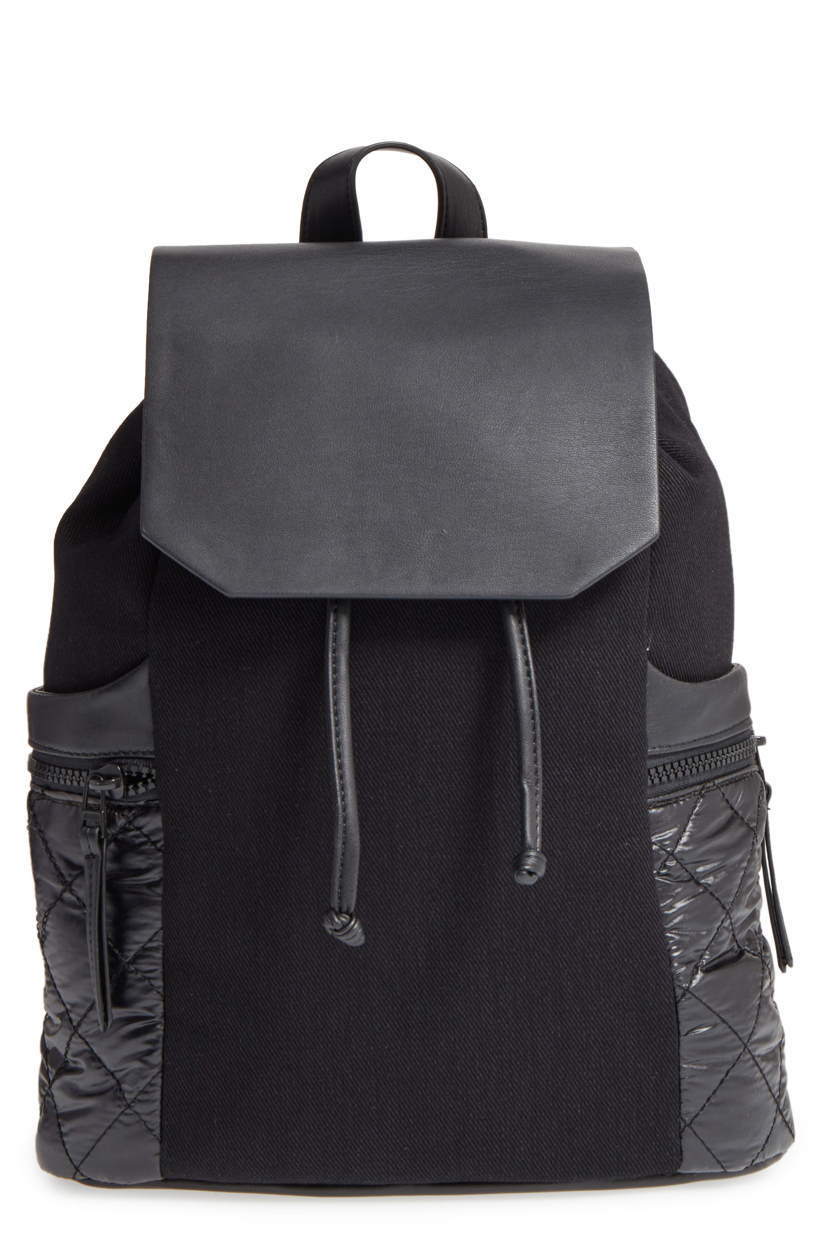 Phase 3 Denim & Faux Leather Backpack