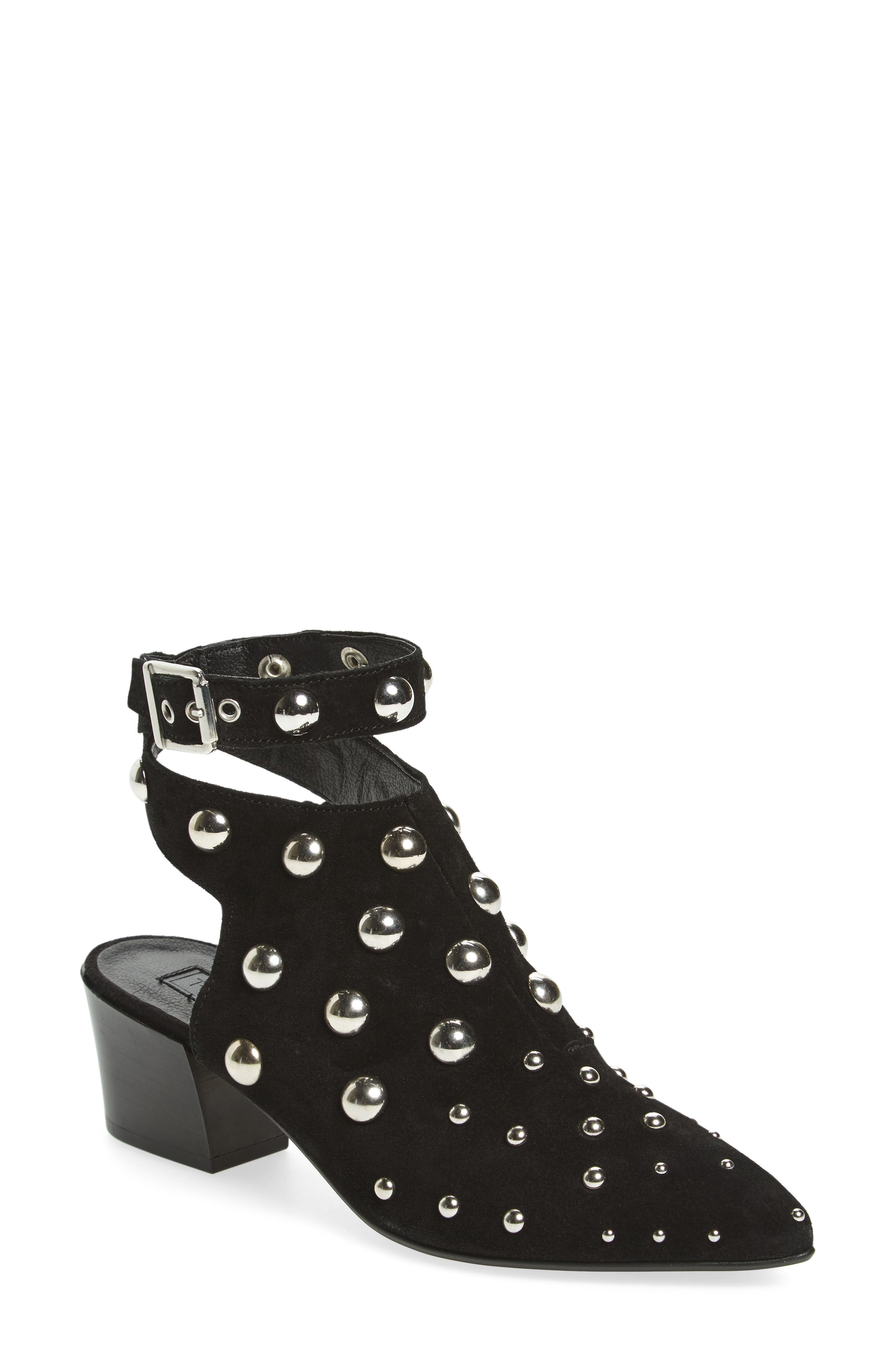 Madness Studded Wraparound Bootie,                         Main,                         color, Black