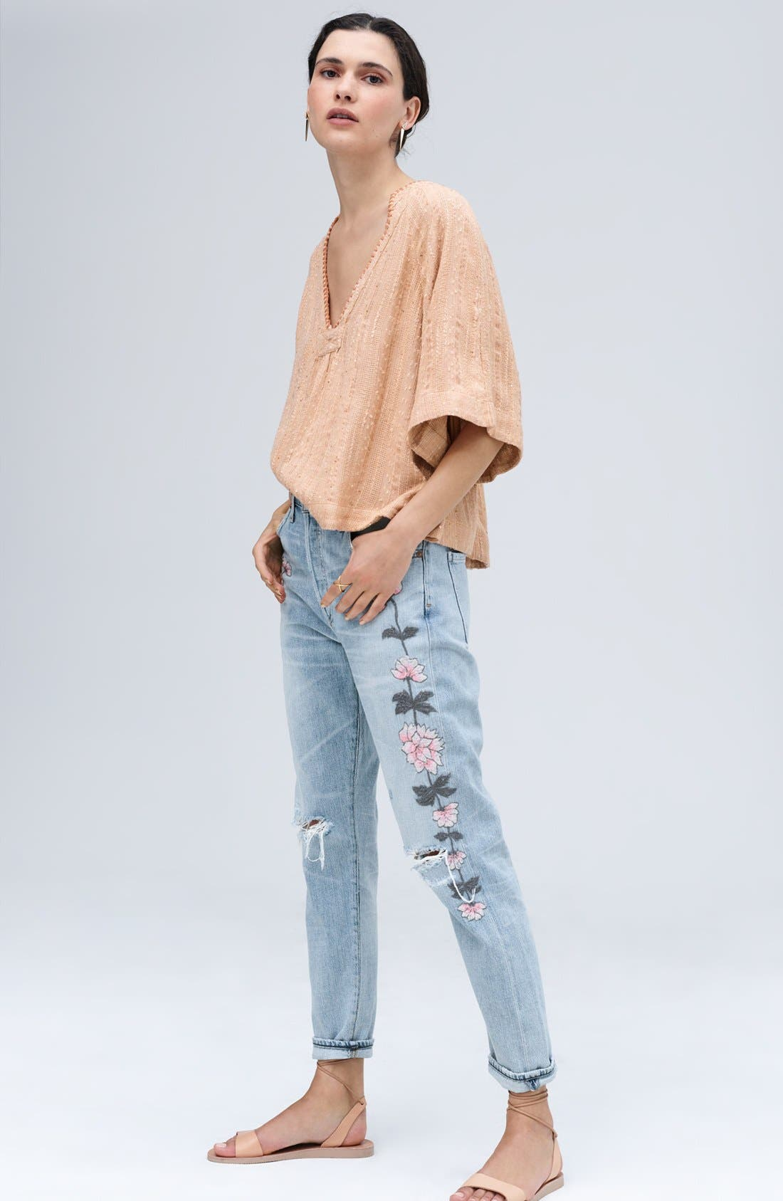 Alternate Image 2  - Citizens of Humanity Emerson Slim Boyfriend Jeans (Distressed Rock on Roses)