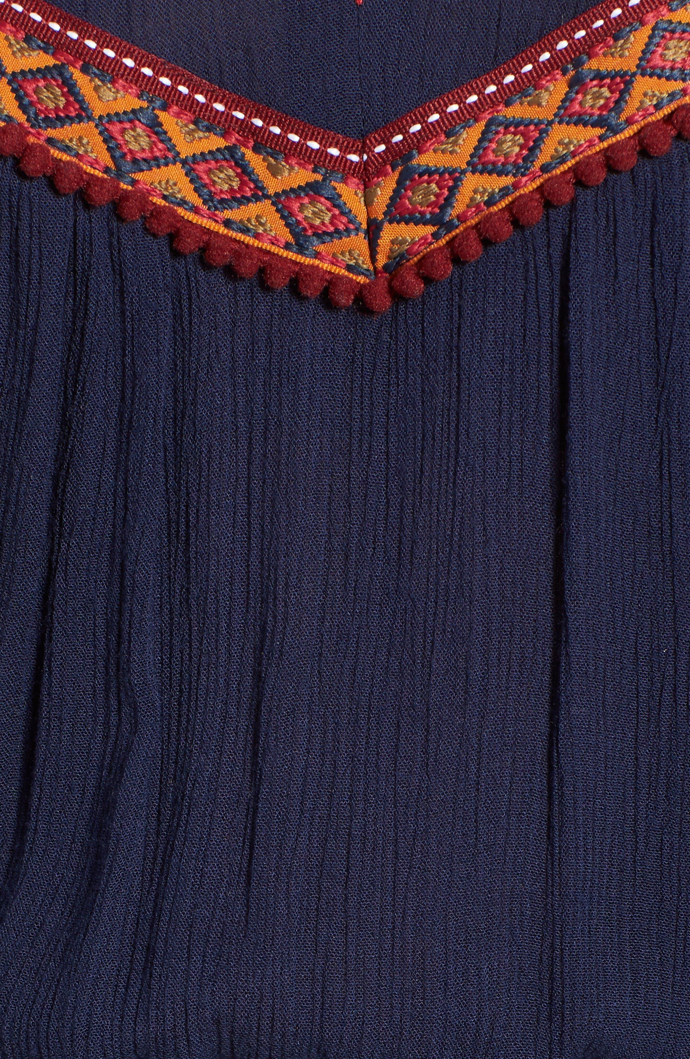 Alternate Image 5  - Band of Gypsies Embellished Cold Shoulder Romper