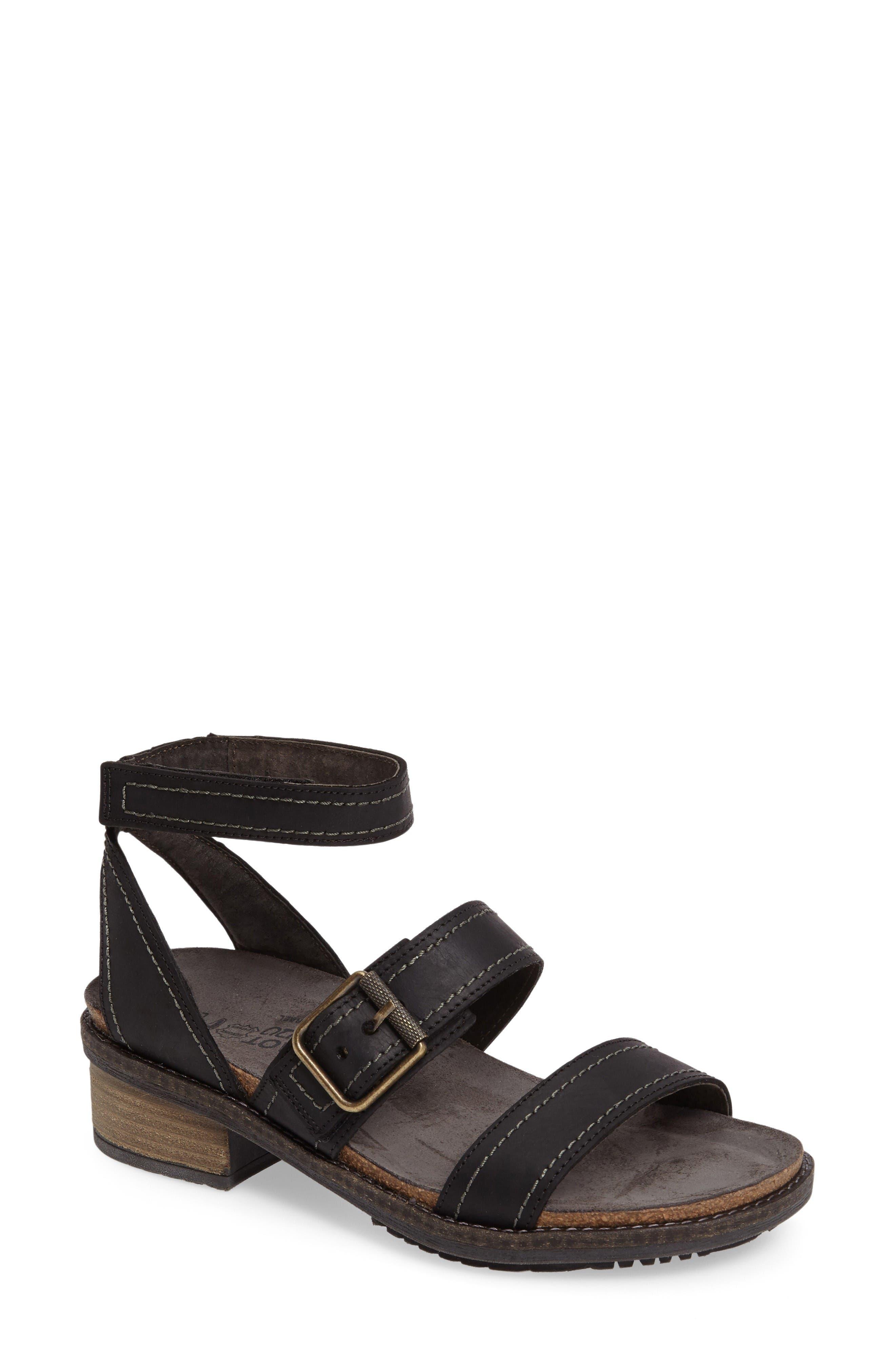 Beatnik Sandal,                         Main,                         color, Coal Nubuck Leather
