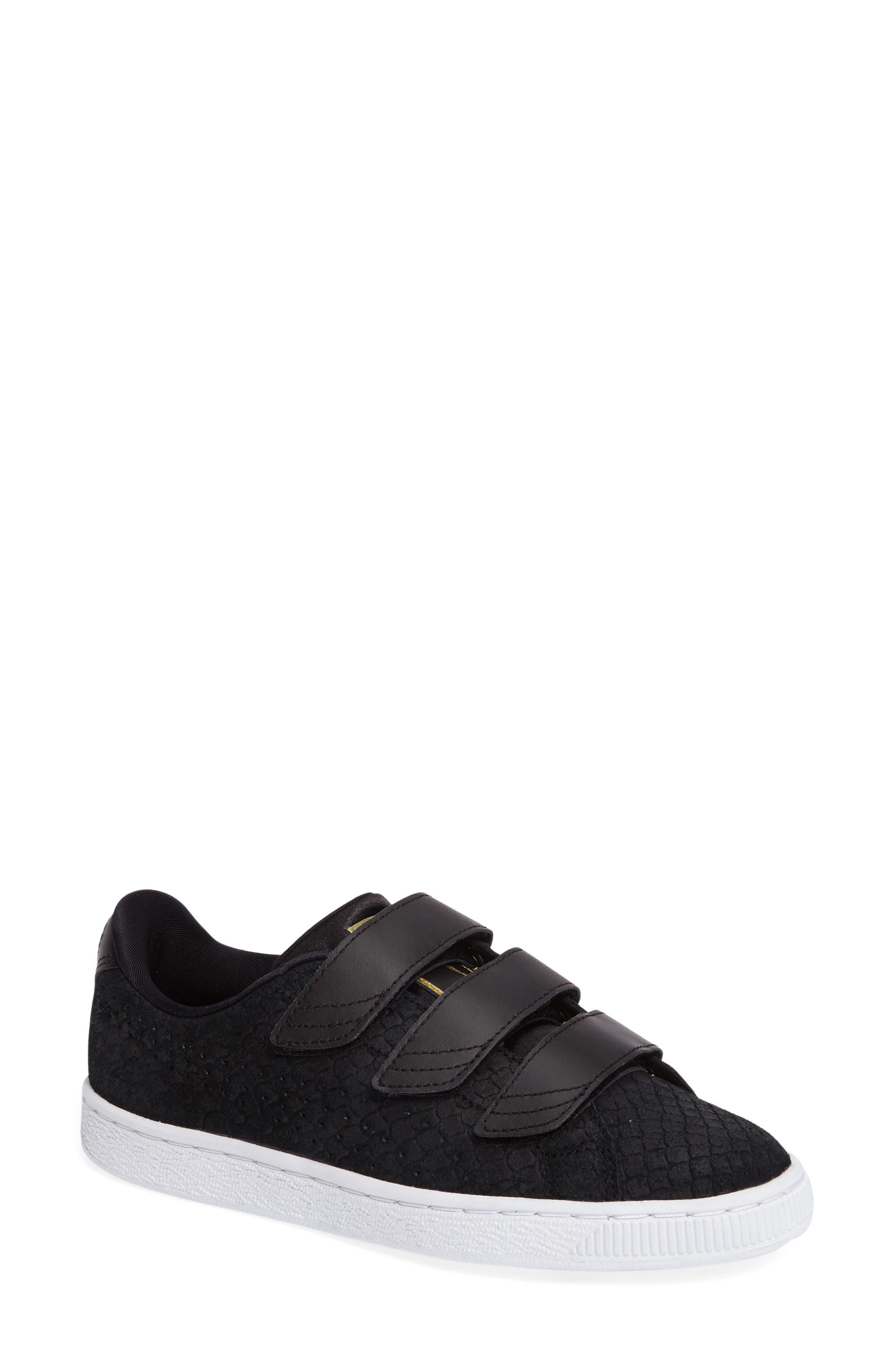 Main Image - PUMA Basket Strap ExoticSkin Sneaker (Women)