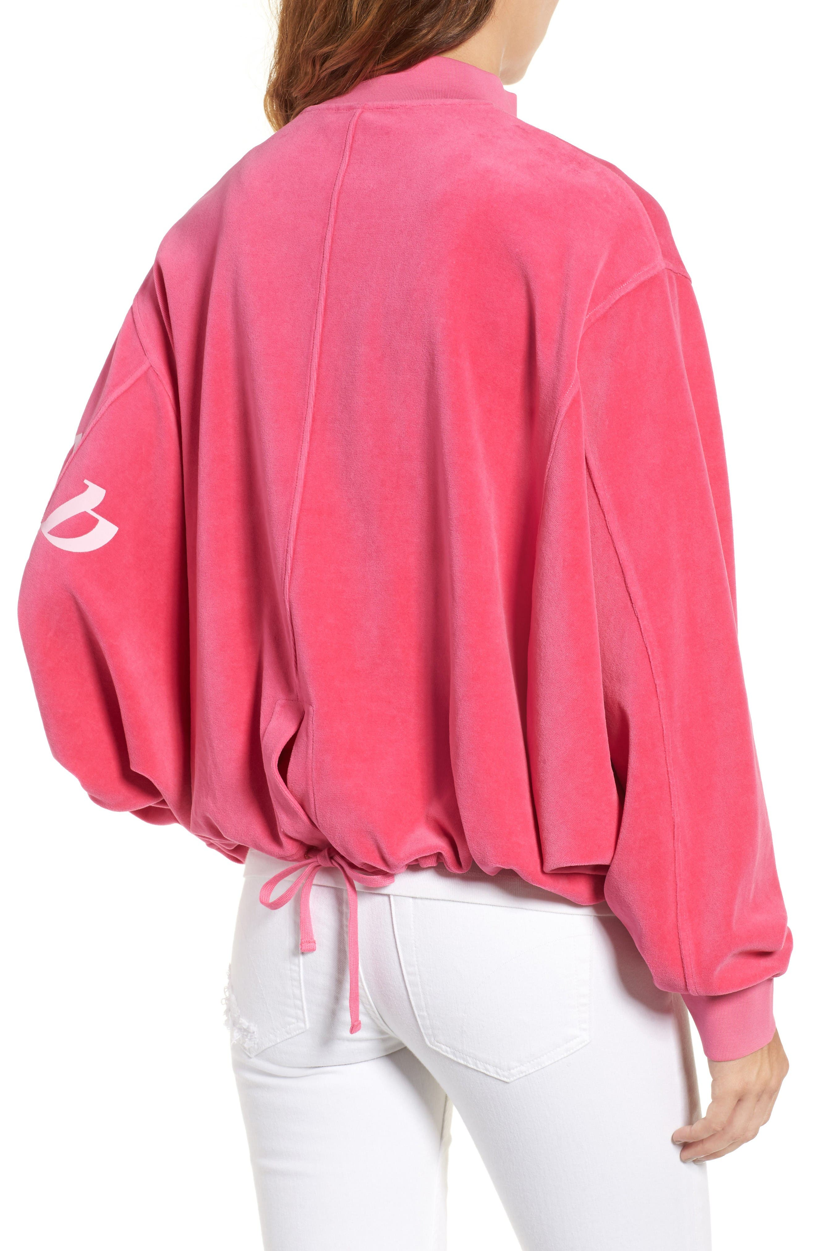Alternate Image 2  - Juicy Couture Velour Batwing Track Jacket