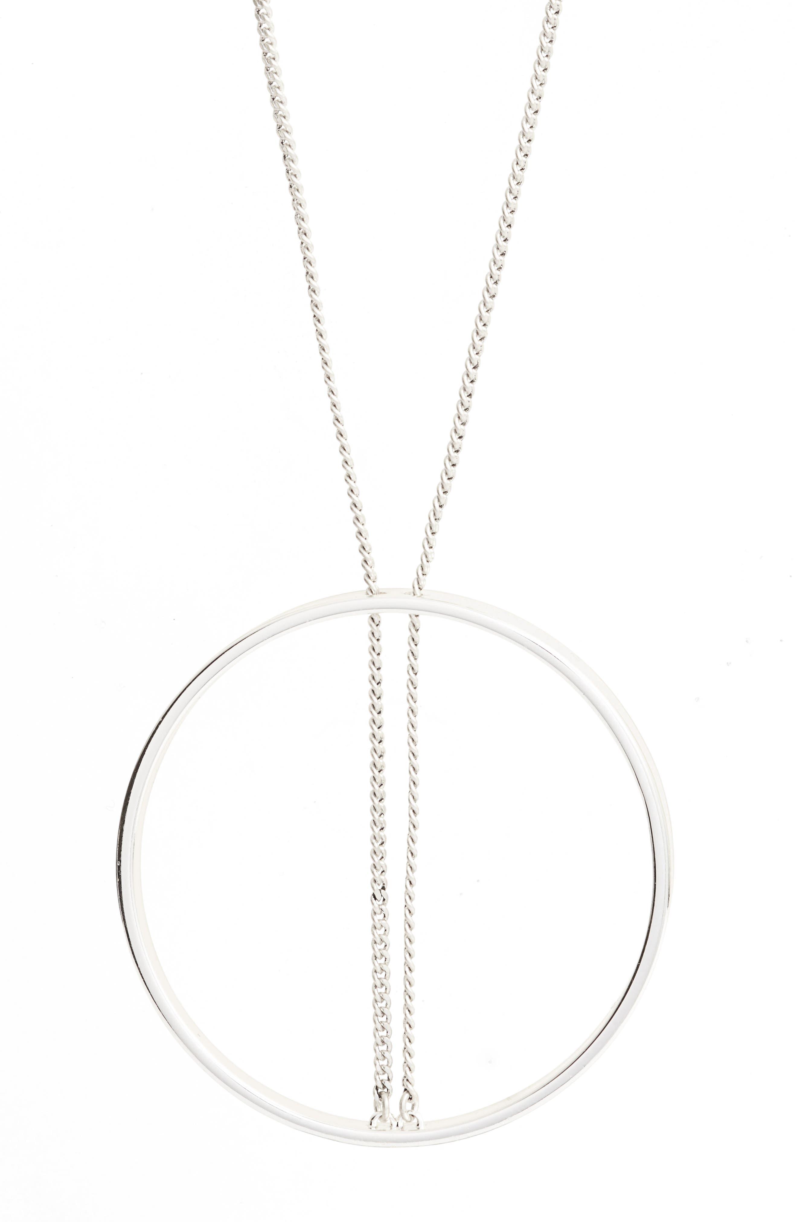 Alternate Image 2  - Jenny Bird Halo Pendant Necklace