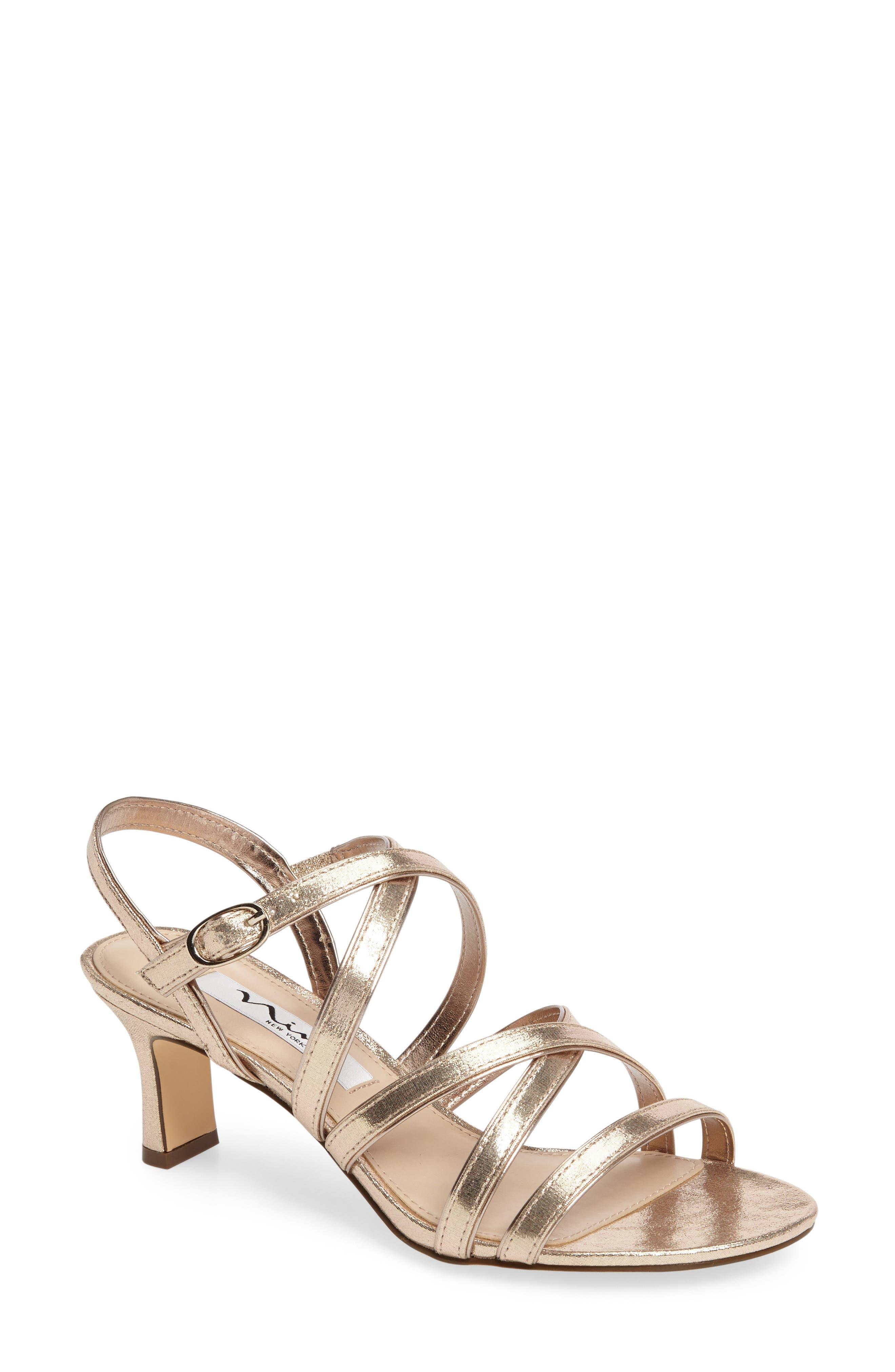 NINA Women's Genaya Strappy Evening Sandal C5QH6GSMsM