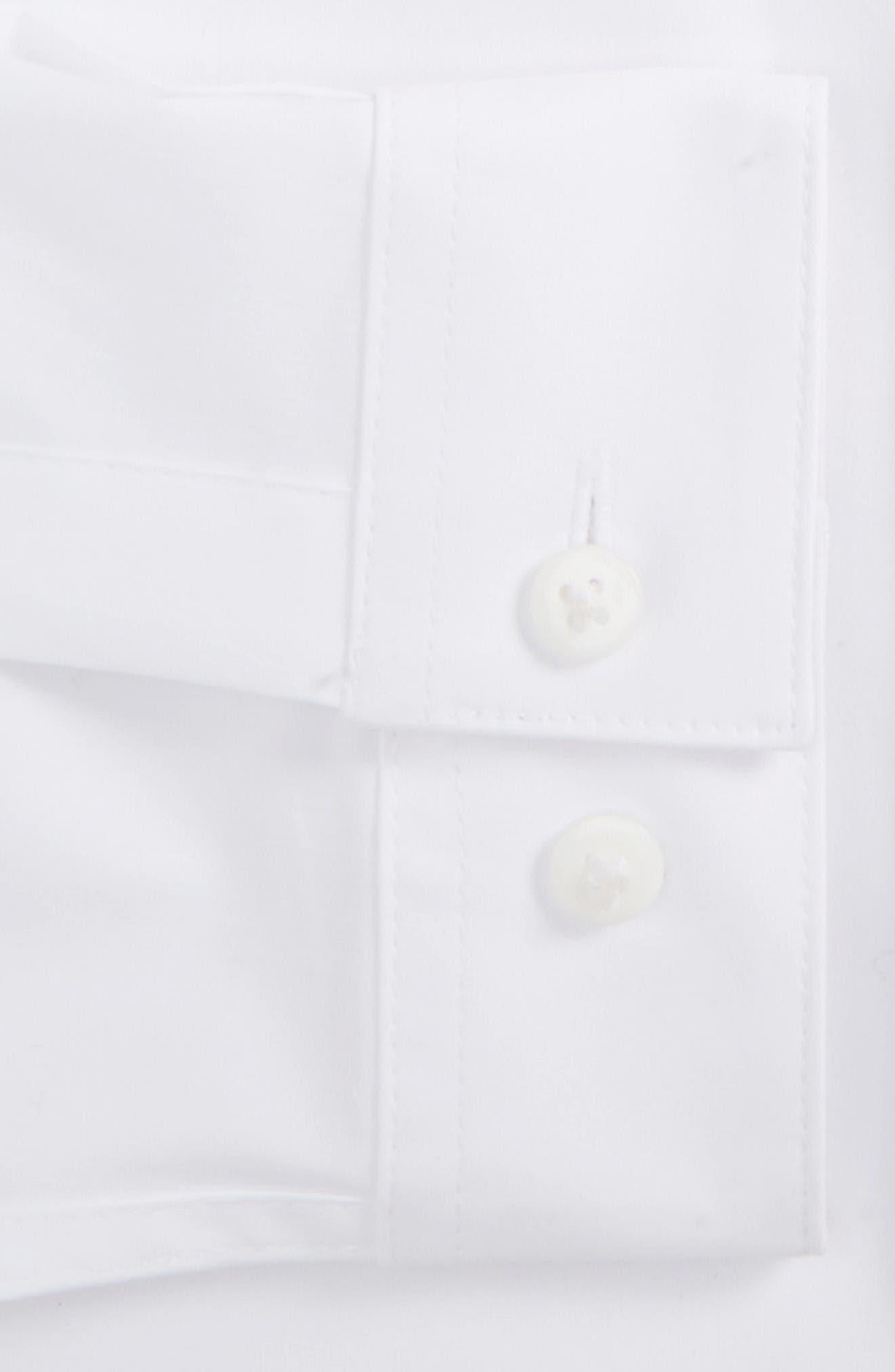 Long Sleeve Woven Shirt,                             Alternate thumbnail 4, color,                             White