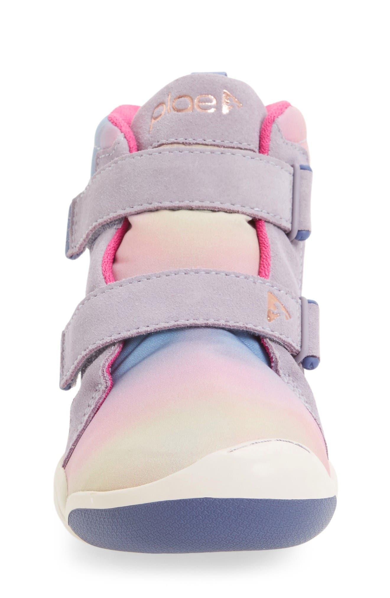 Max Customizable High Top Sneaker,                             Alternate thumbnail 3, color,                             Fun Aurora Suede