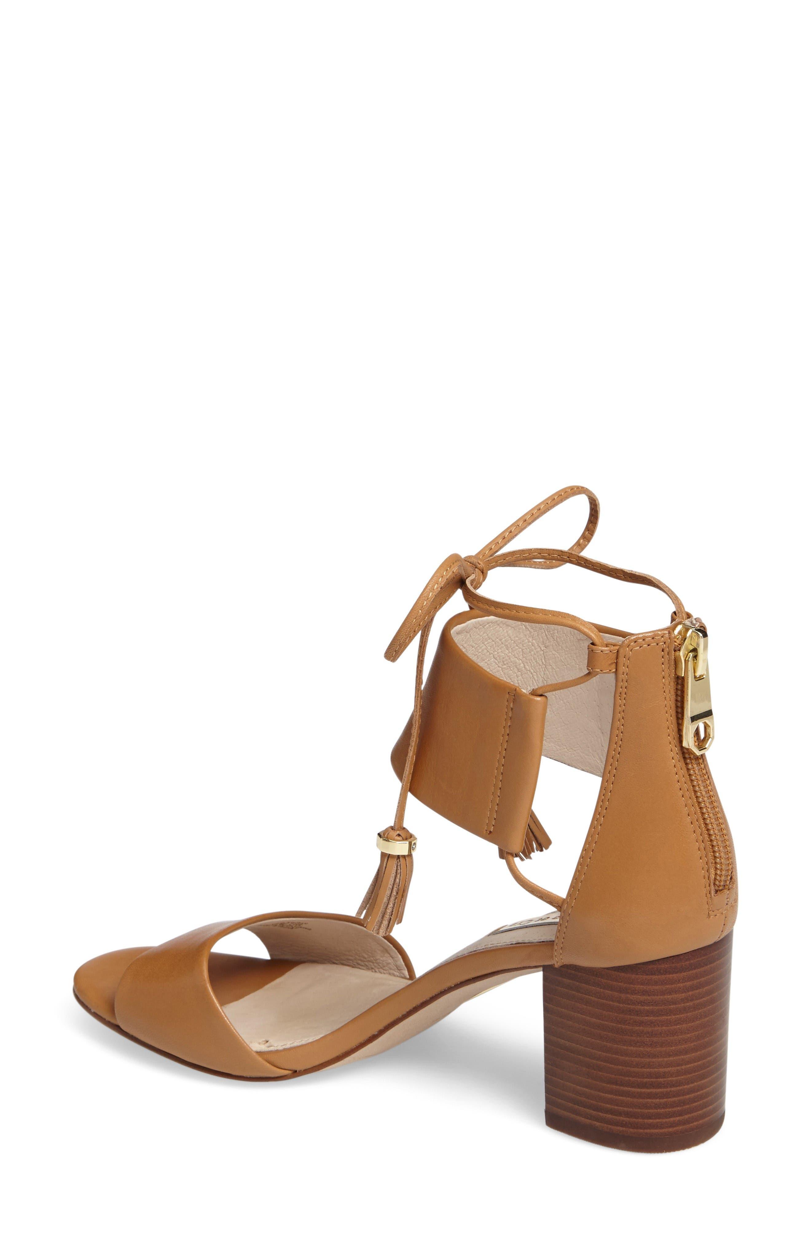 Keegan Block Heel Sandal,                             Alternate thumbnail 2, color,                             True Tan Leather