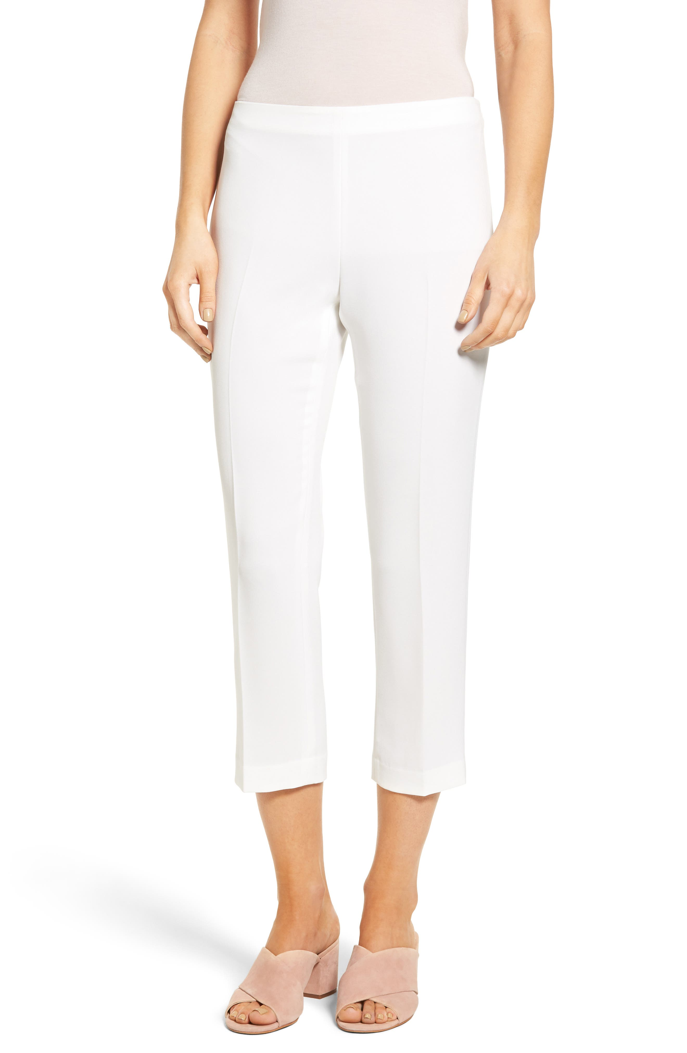 Sarah Crop Pants,                         Main,                         color, White