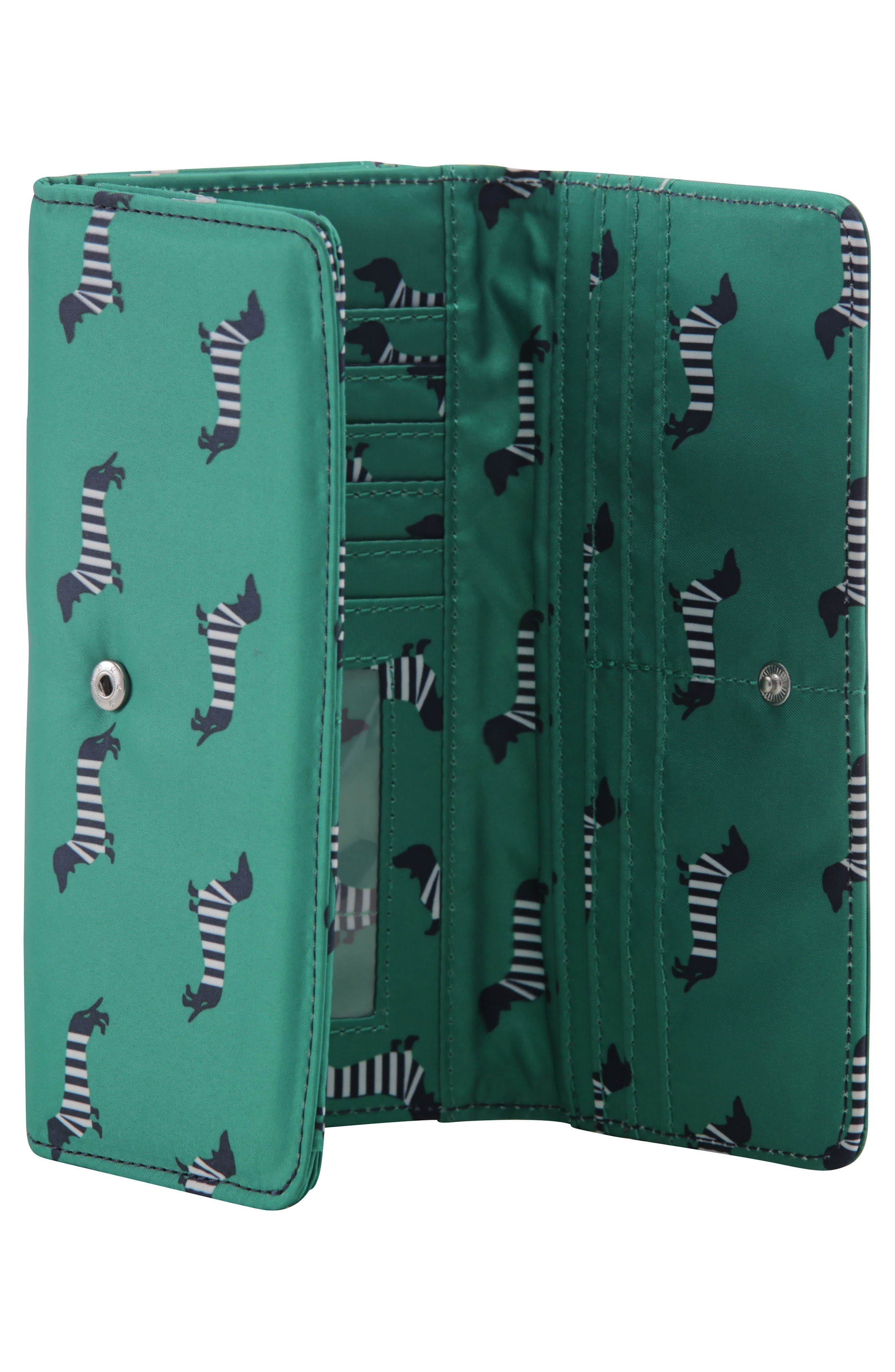 Be Rich - Coastal Collection Trifold Clutch Wallet,                             Alternate thumbnail 7, color,                             Coney Island
