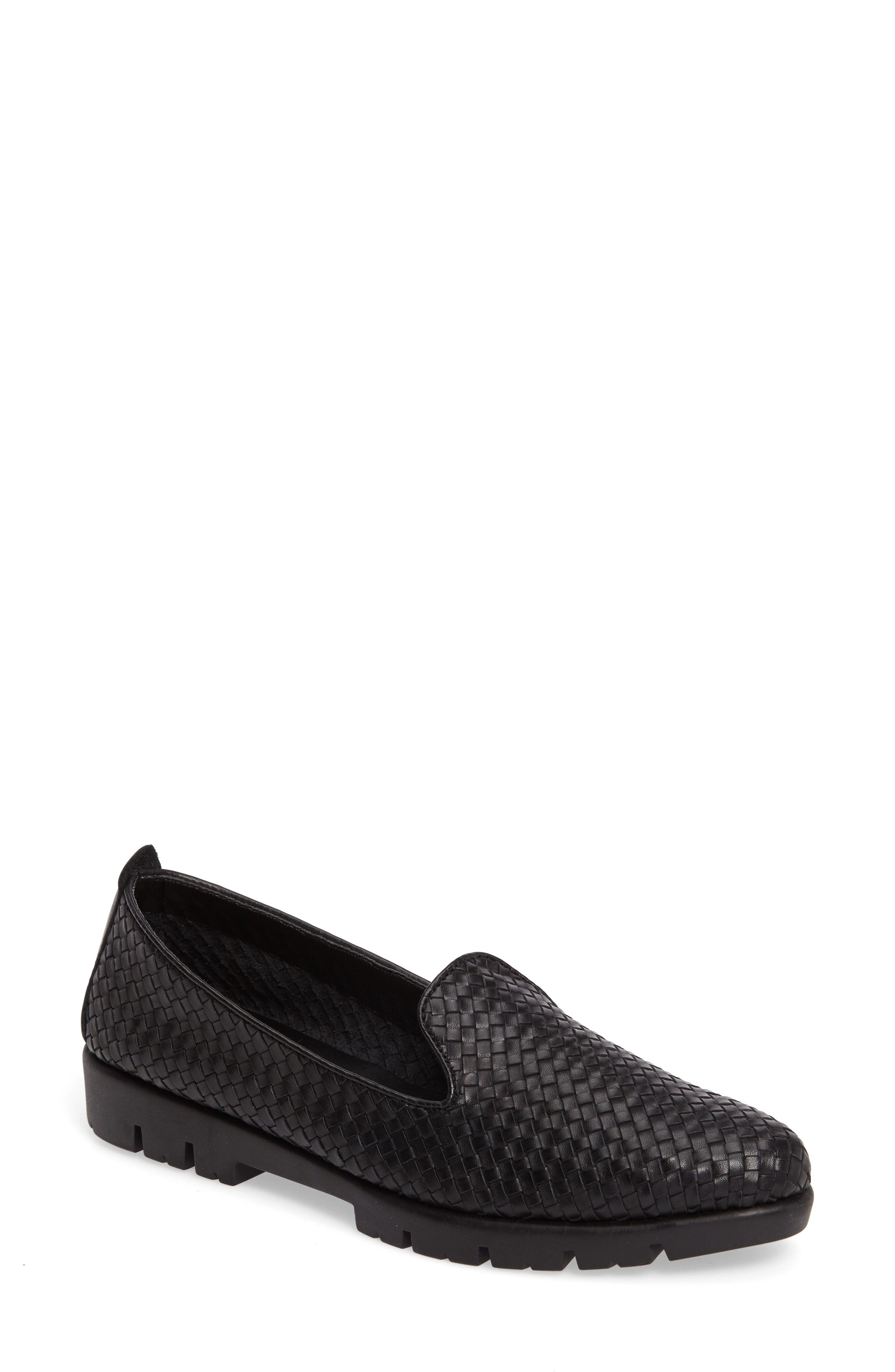 Smokin Hot Too Platform Loafer,                             Main thumbnail 1, color,                             Black Elba Intreccio Leather