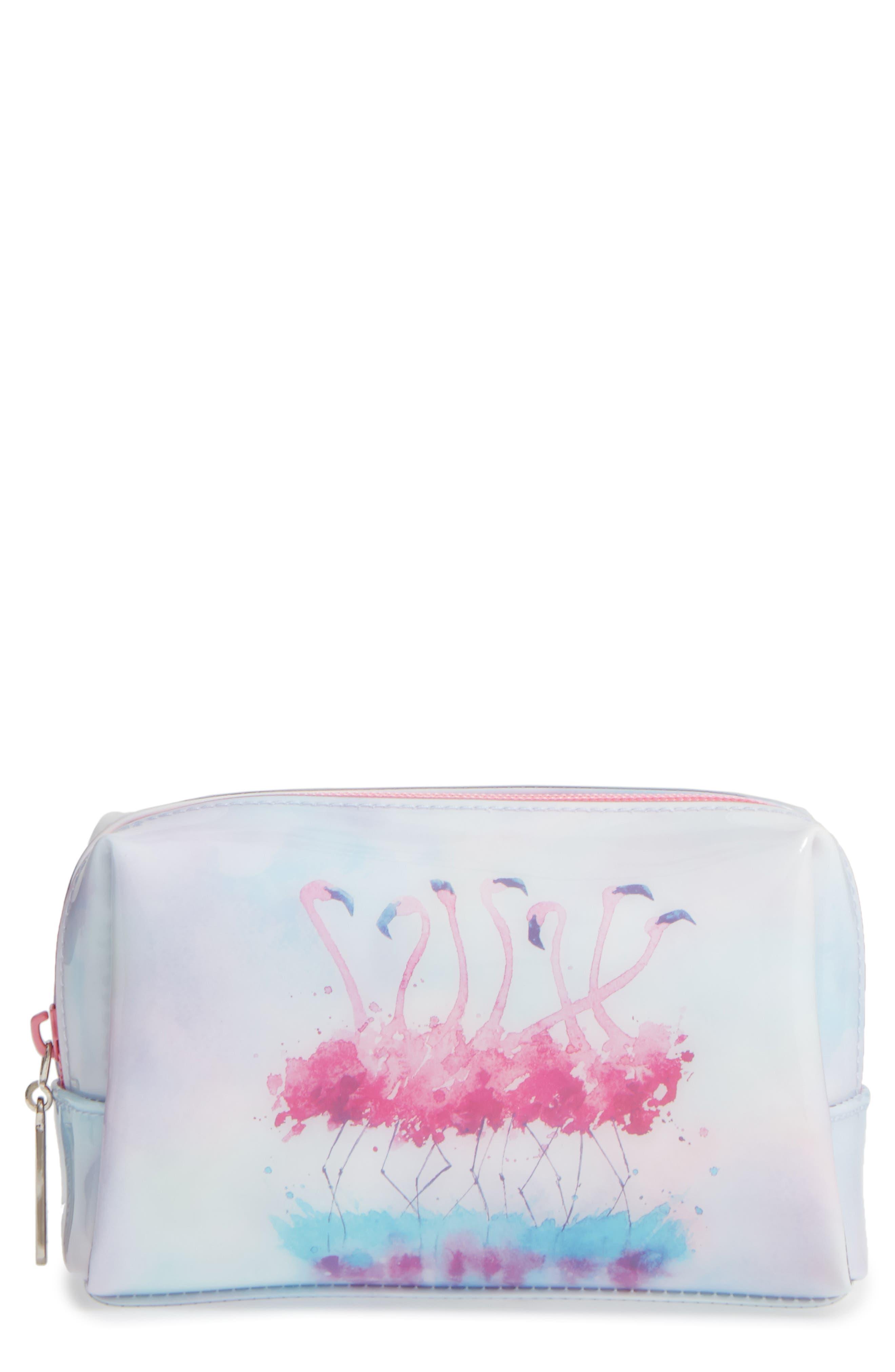 Alternate Image 1 Selected - Catseye London Flamingo Cosmetics Bag