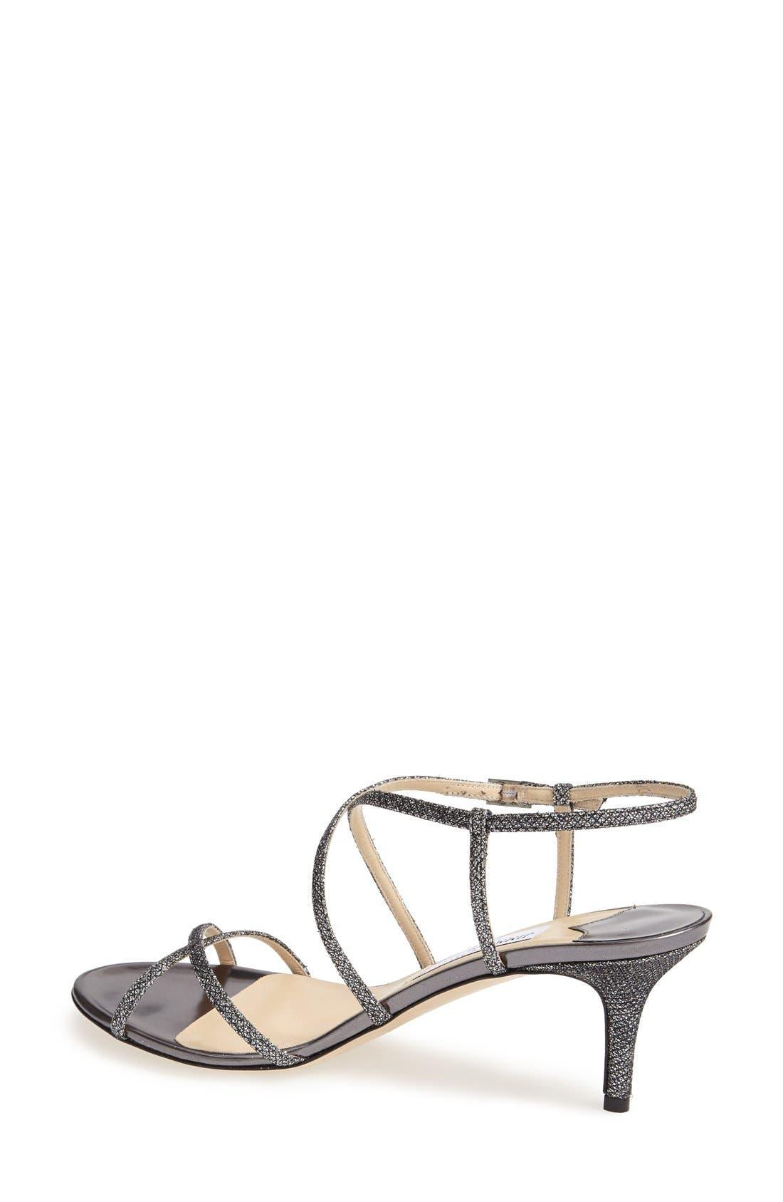 Alternate Image 2  - Jimmy Choo 'Elisa' Glitter Strap Sandal (Women)