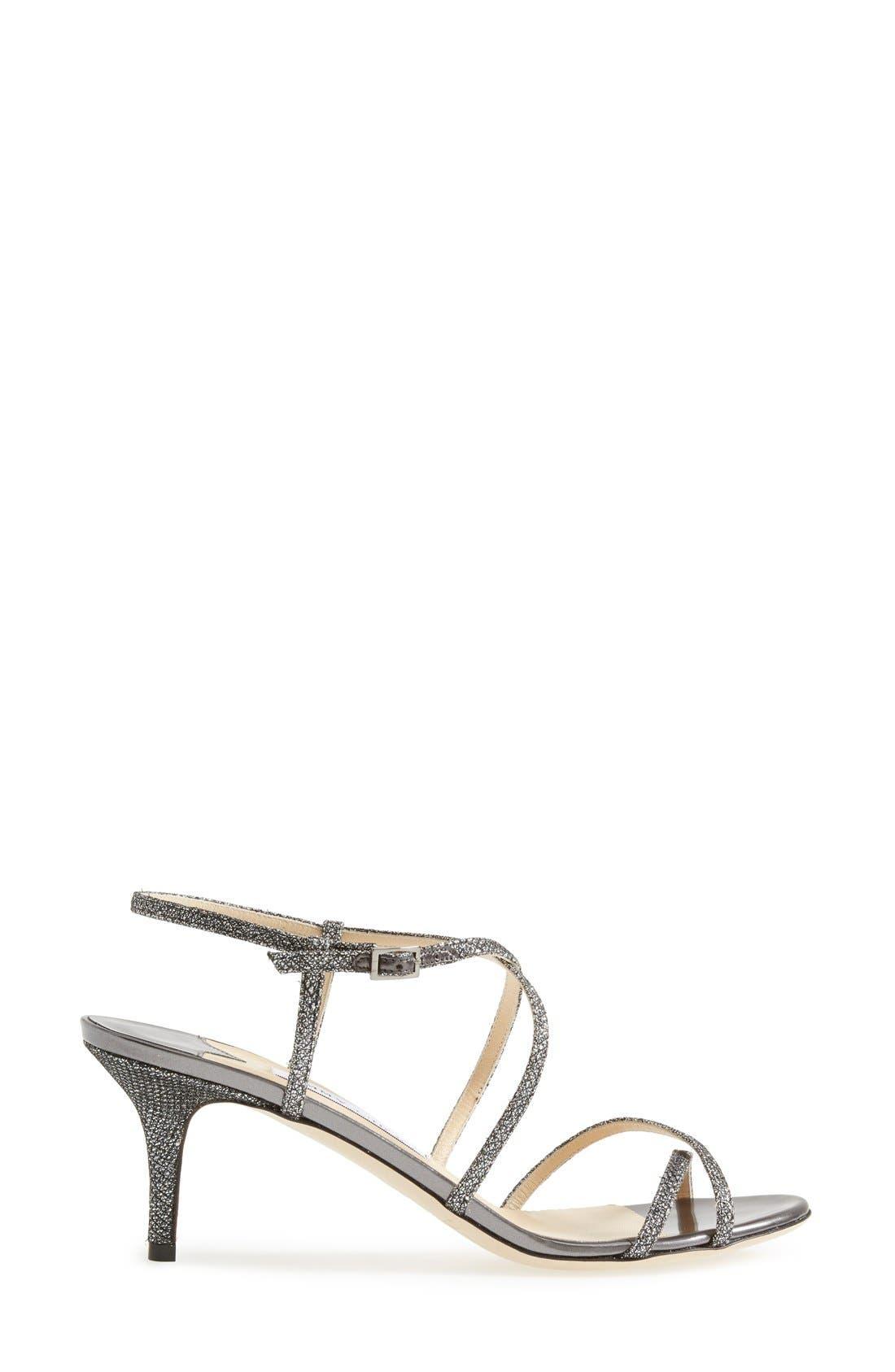 Alternate Image 4  - Jimmy Choo 'Elisa' Glitter Strap Sandal (Women)
