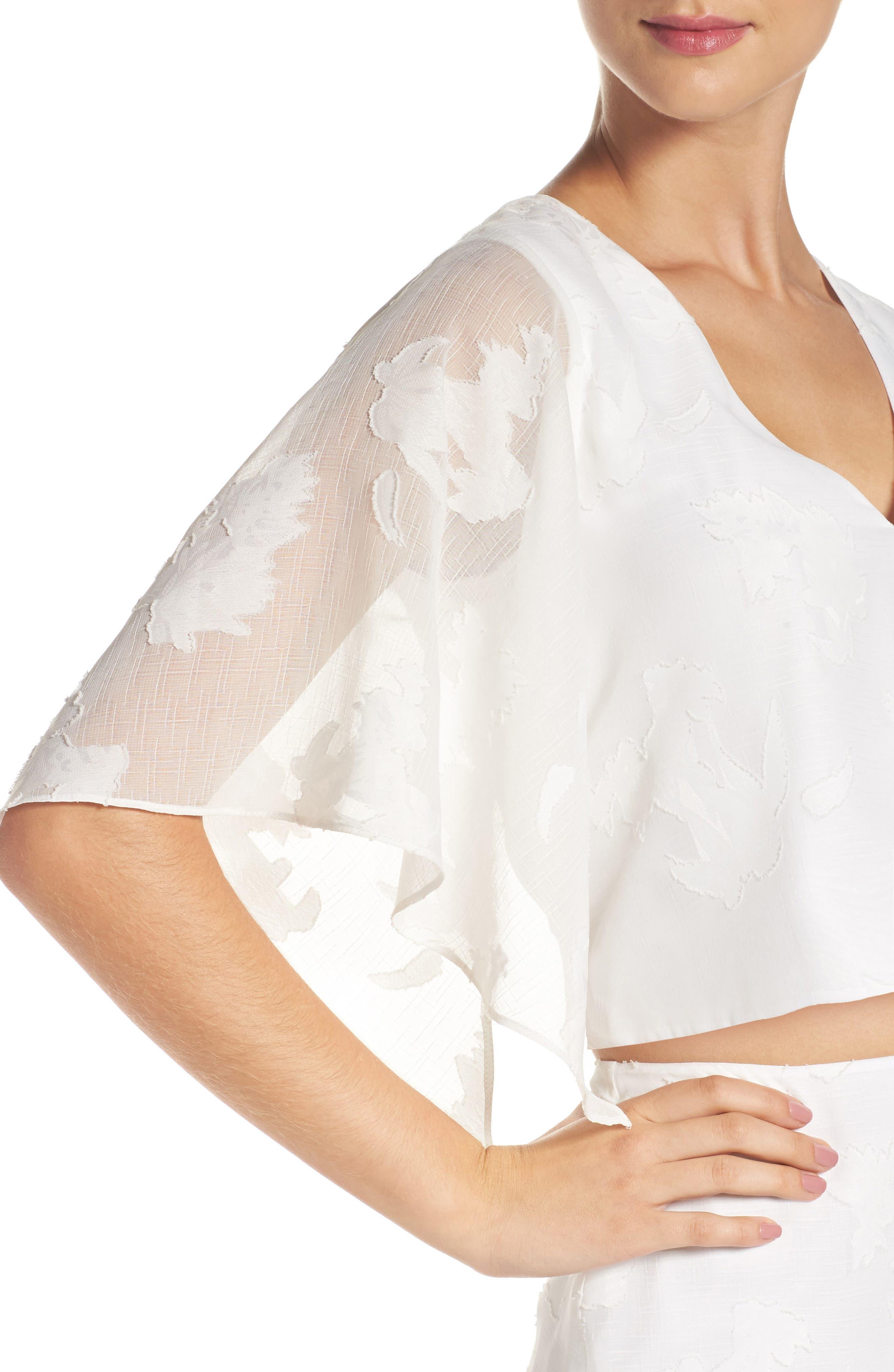 Two-Piece Dress,                             Alternate thumbnail 5, color,                             White Floral