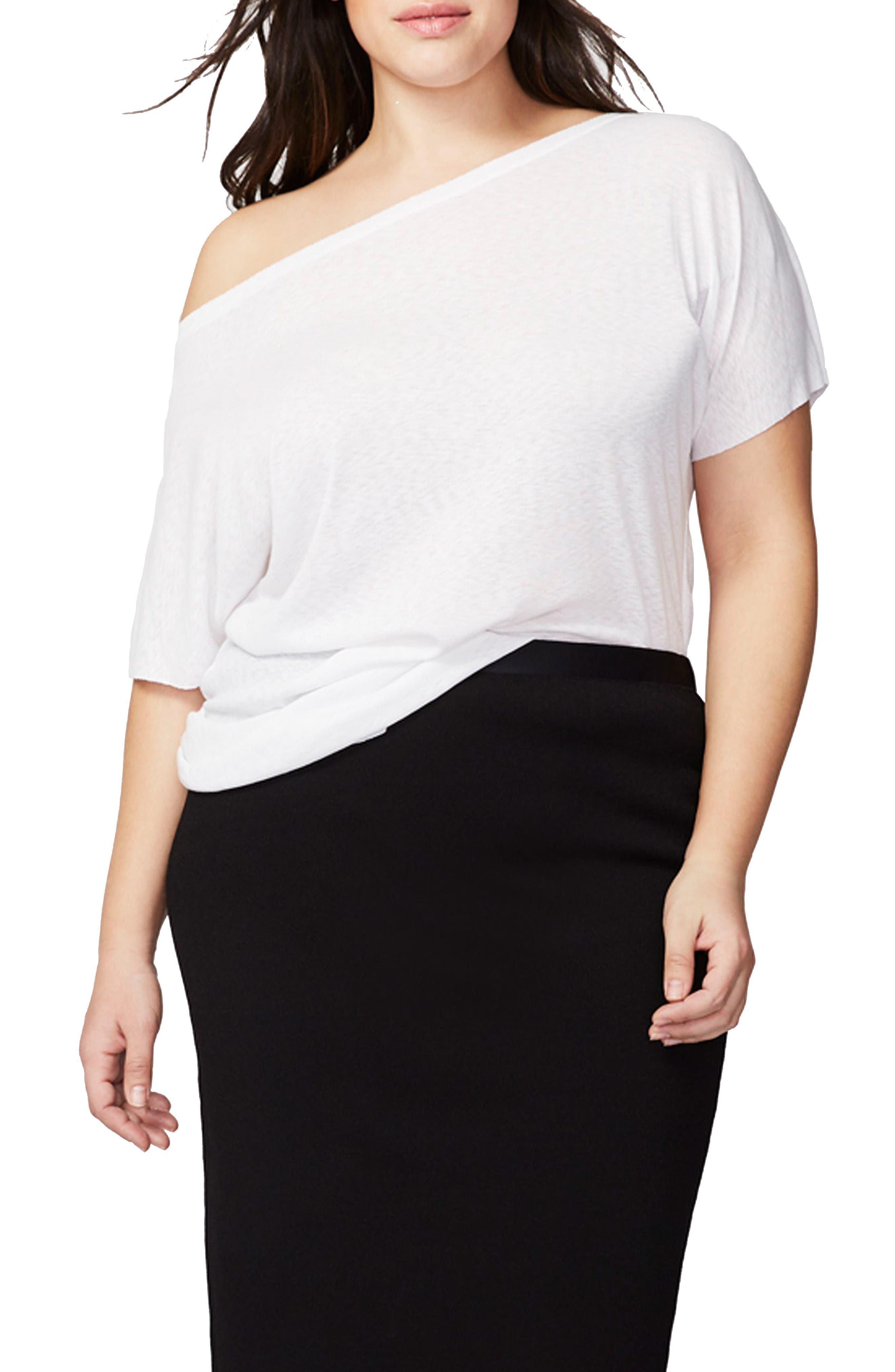 RACHEL Rachel Roy Off the Shoulder Tee (Plus Size)