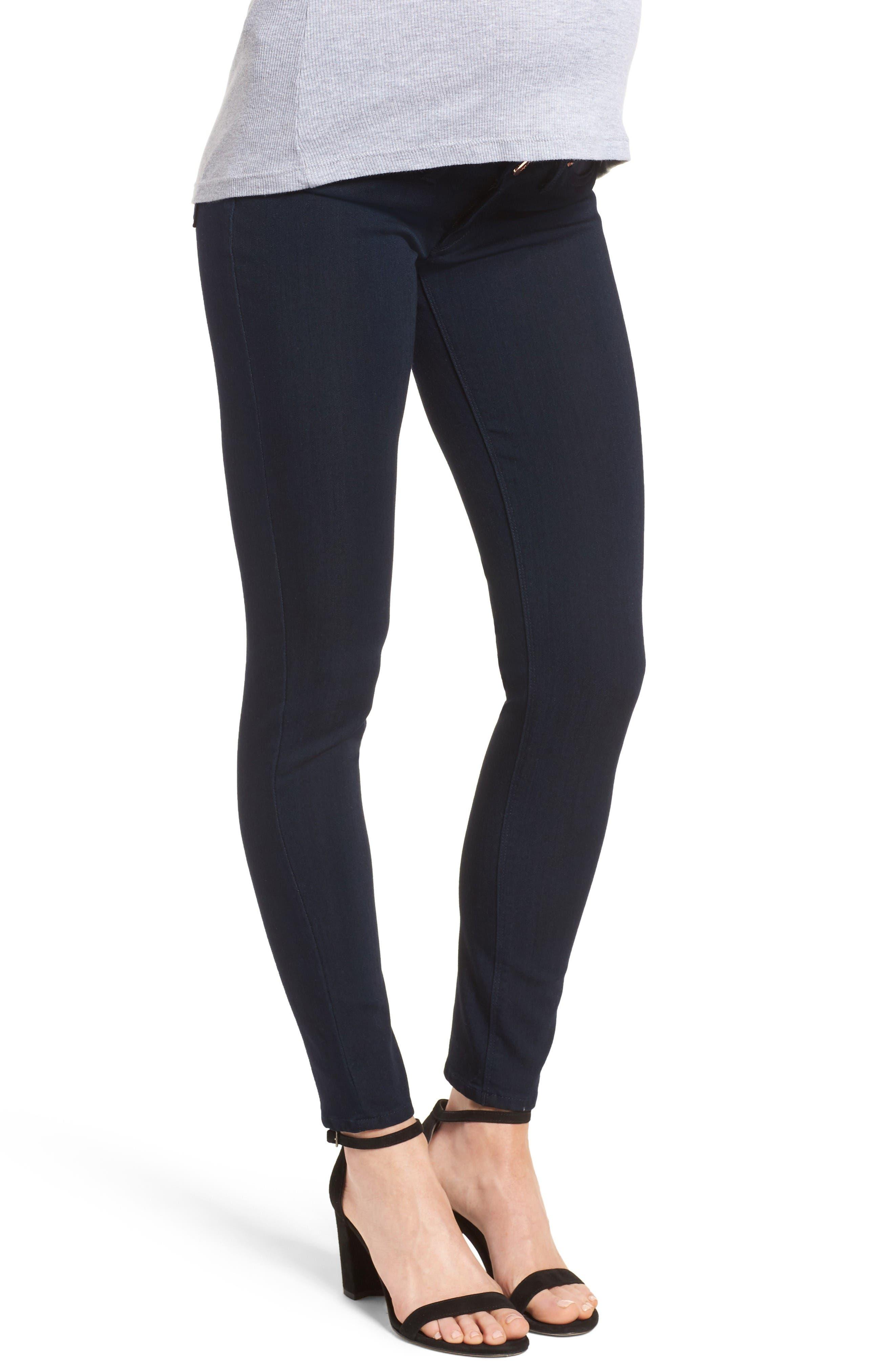 Emma Power Legging Maternity Jeans,                             Alternate thumbnail 3, color,                             Flatiron