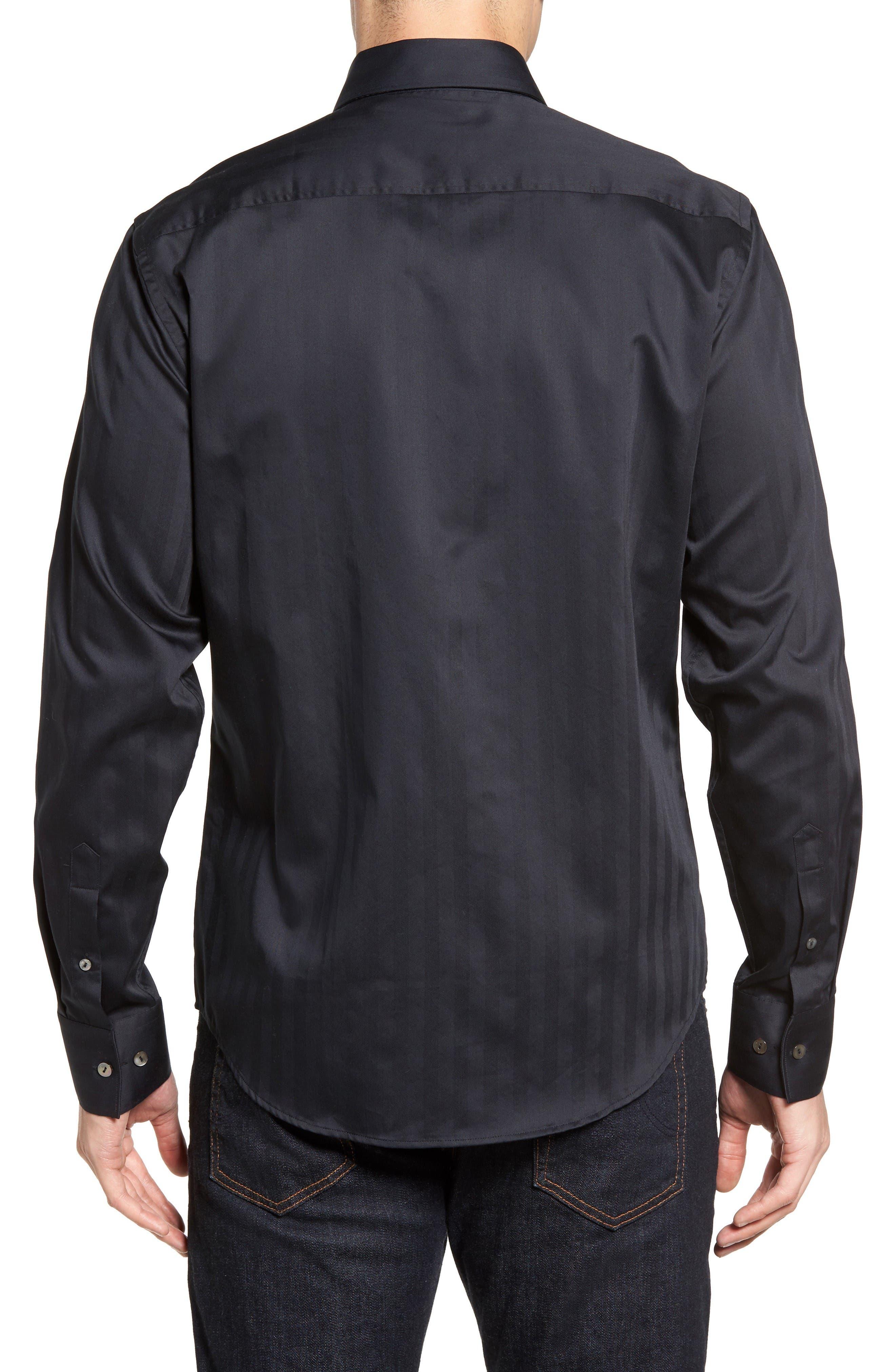 Alternate Image 2  - Stone Rose Herringbone Stripe Sport Shirt