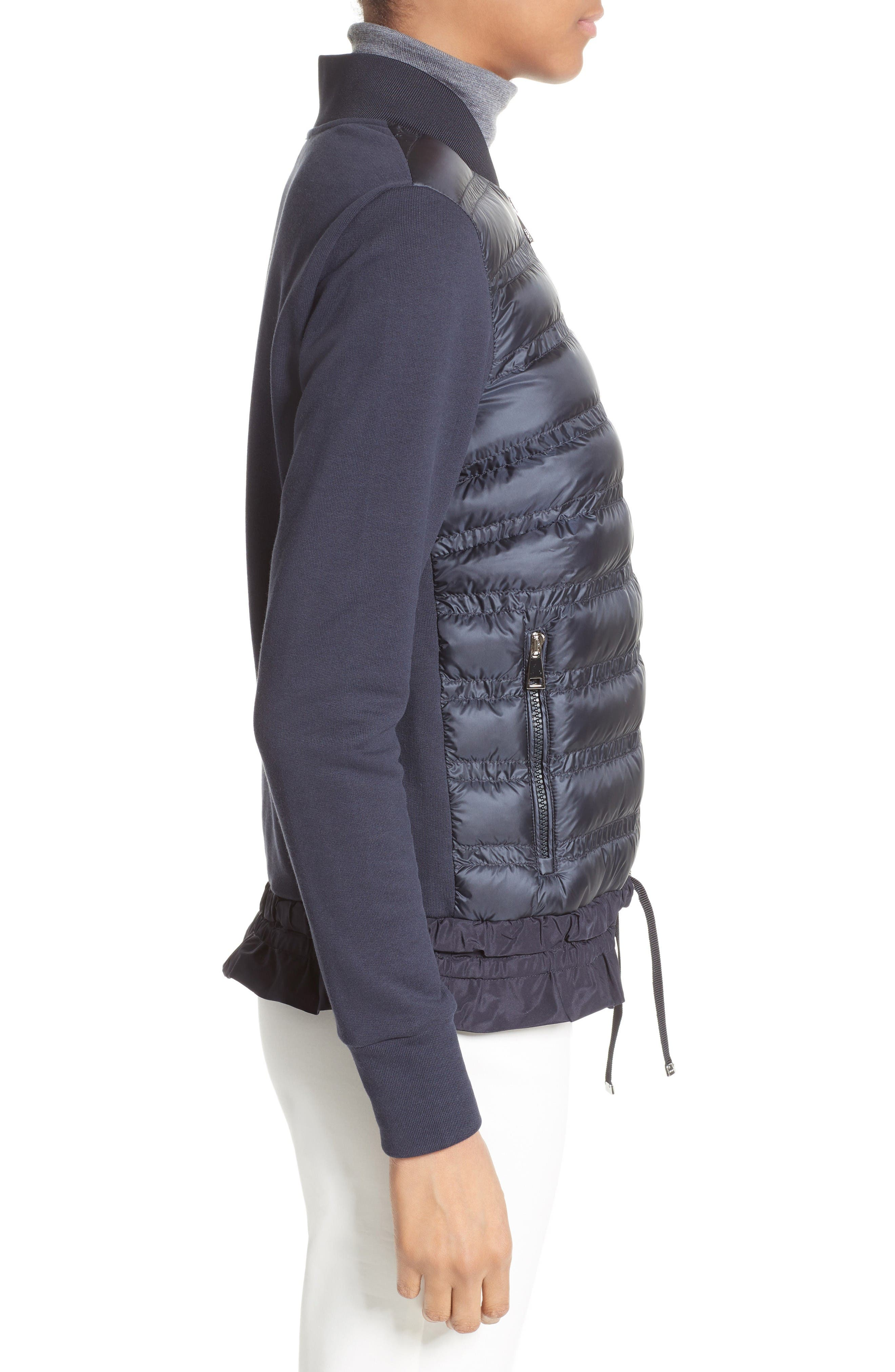 Alternate Image 5  - Moncler Maglia Quilted Down Front Tricot Bomber