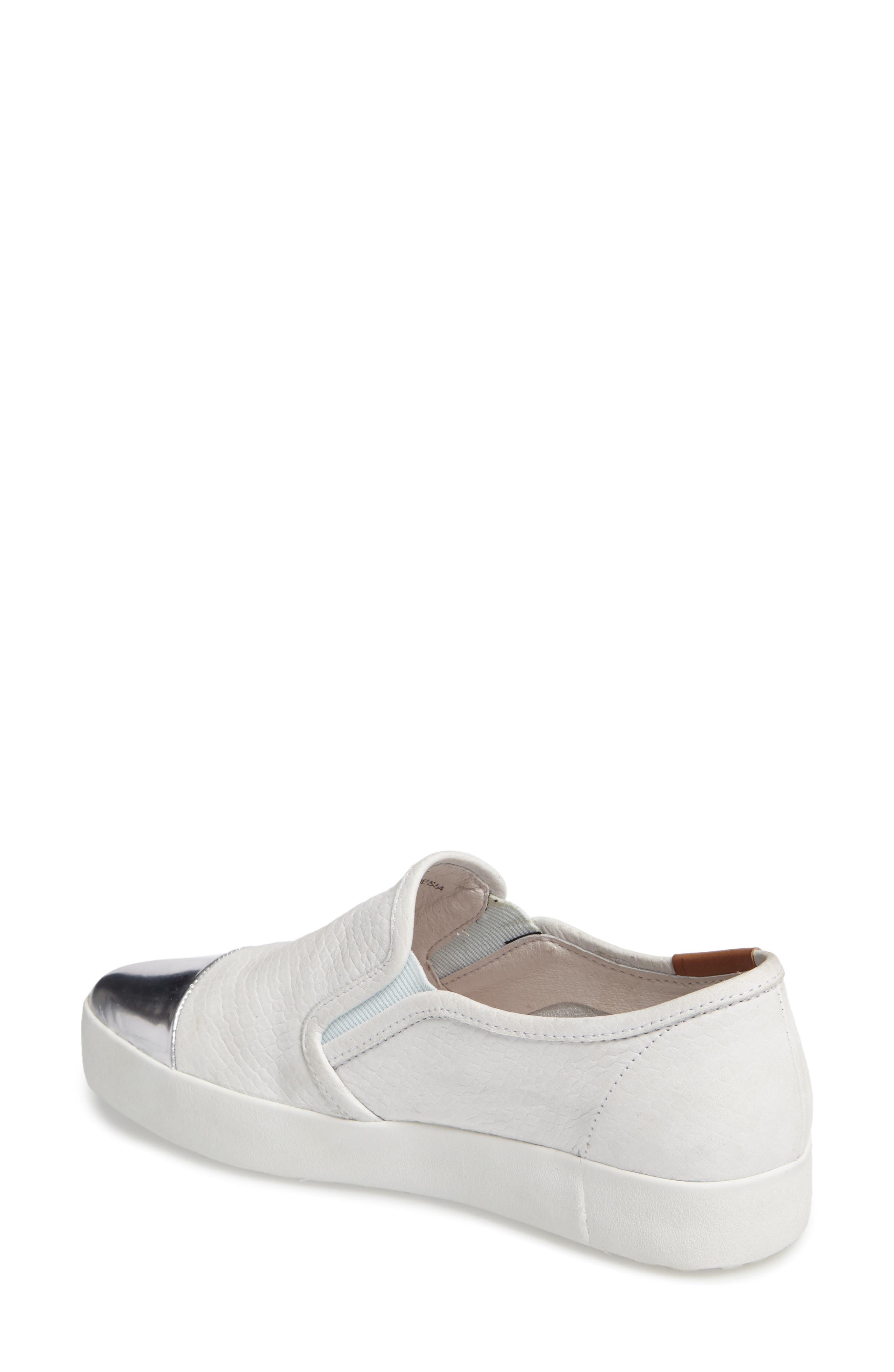 NL47 Slip-On Sneaker,                             Alternate thumbnail 2, color,                             White Nubuck