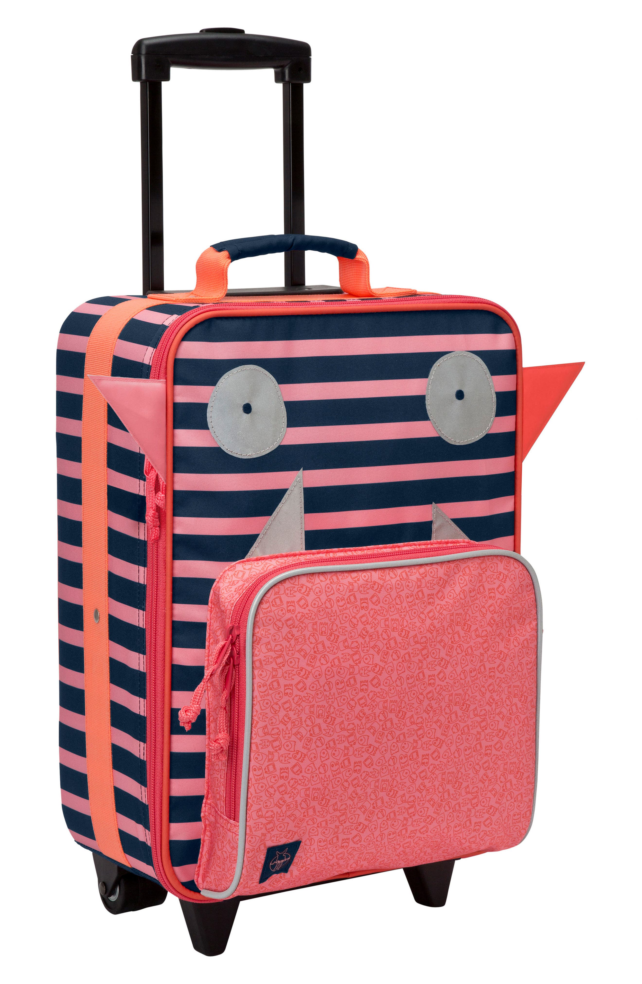 Little Monster Rolling Suitcase,                         Main,                         color, Mad Mabel