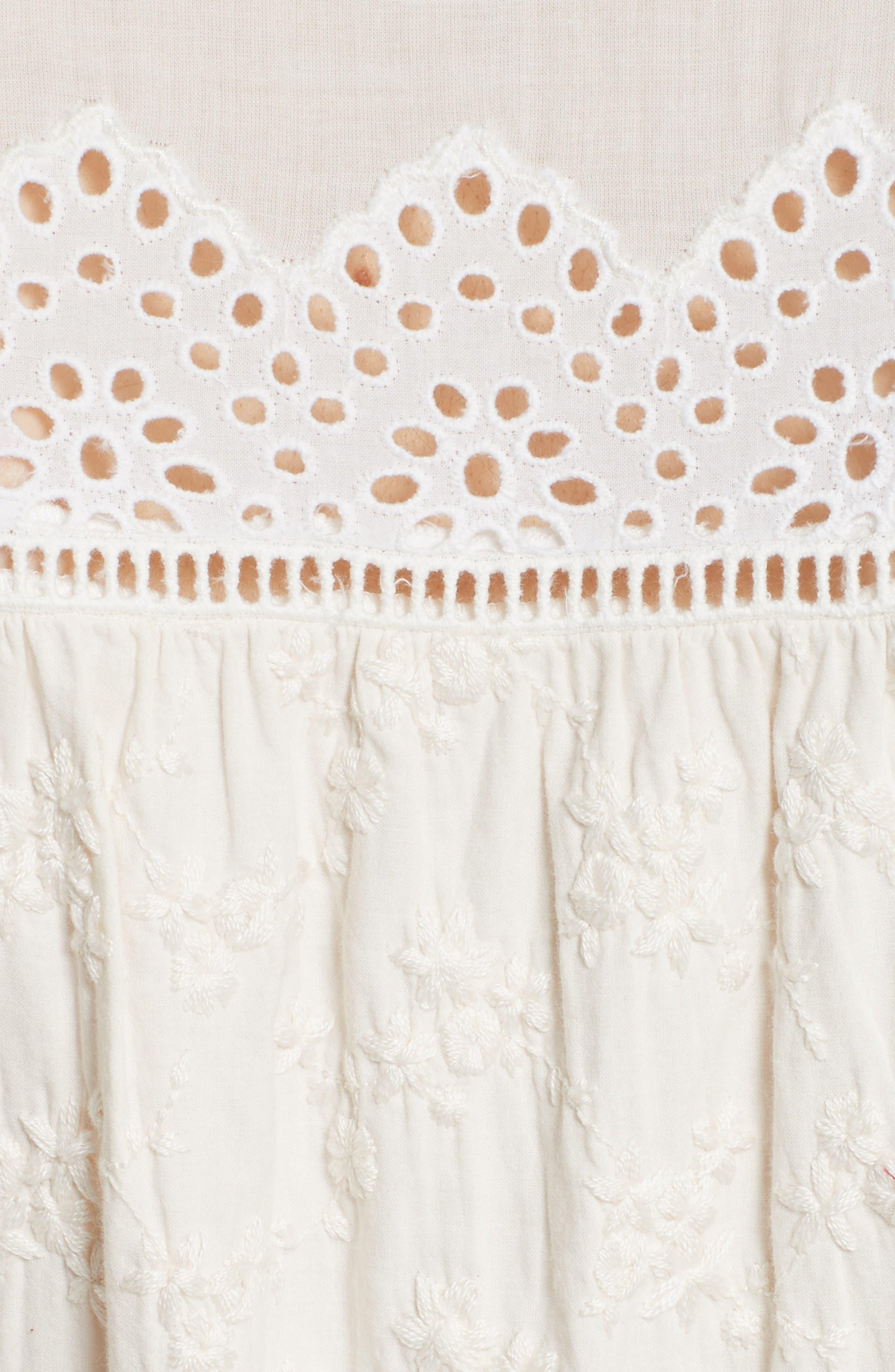 Alternate Image 6  - La Vie Rebecca Taylor Embroidered Voile Midi Dress
