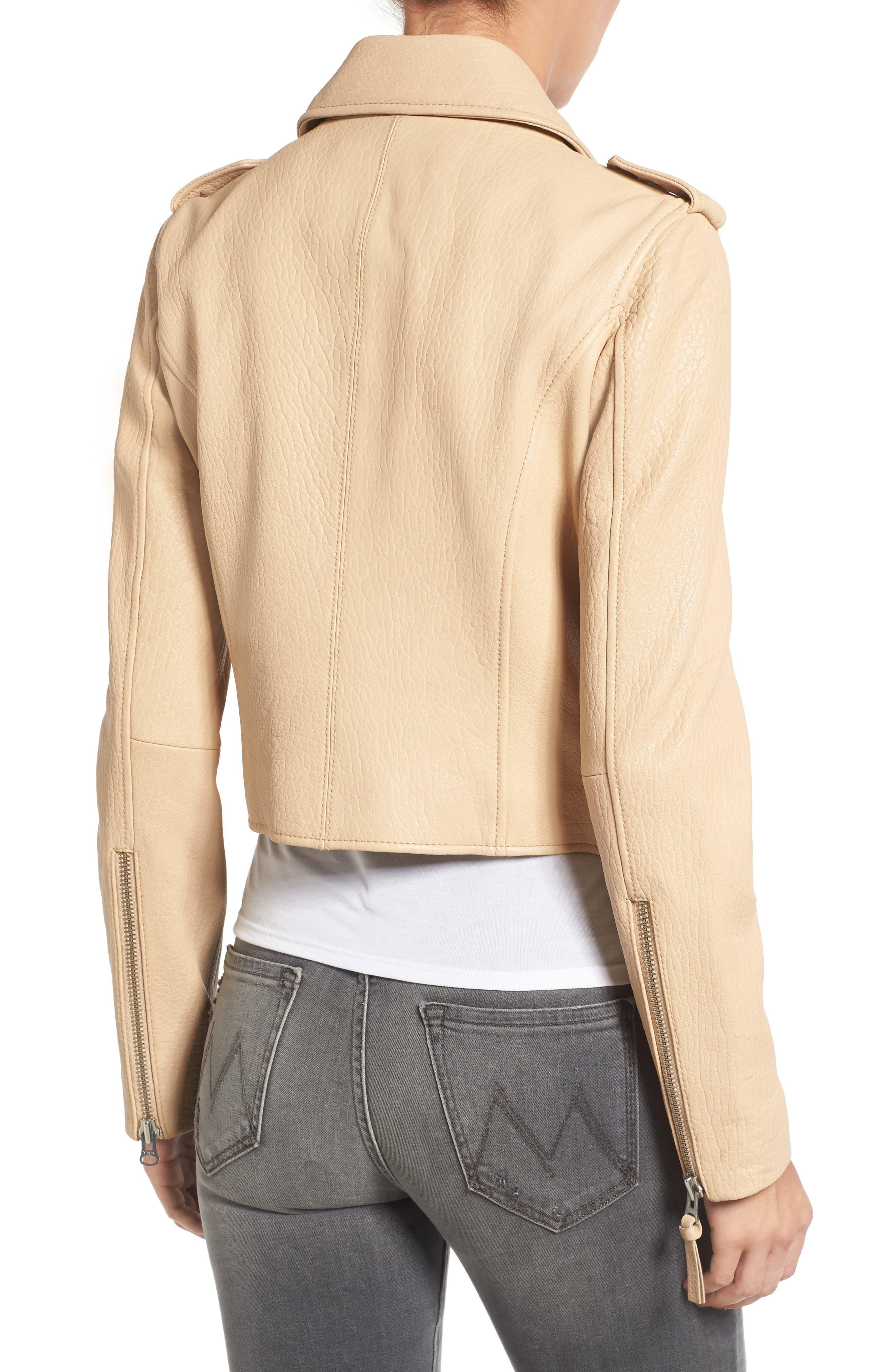 Alternate Image 2  - Derek Lam 10 Crosby Leather Moto Jacket