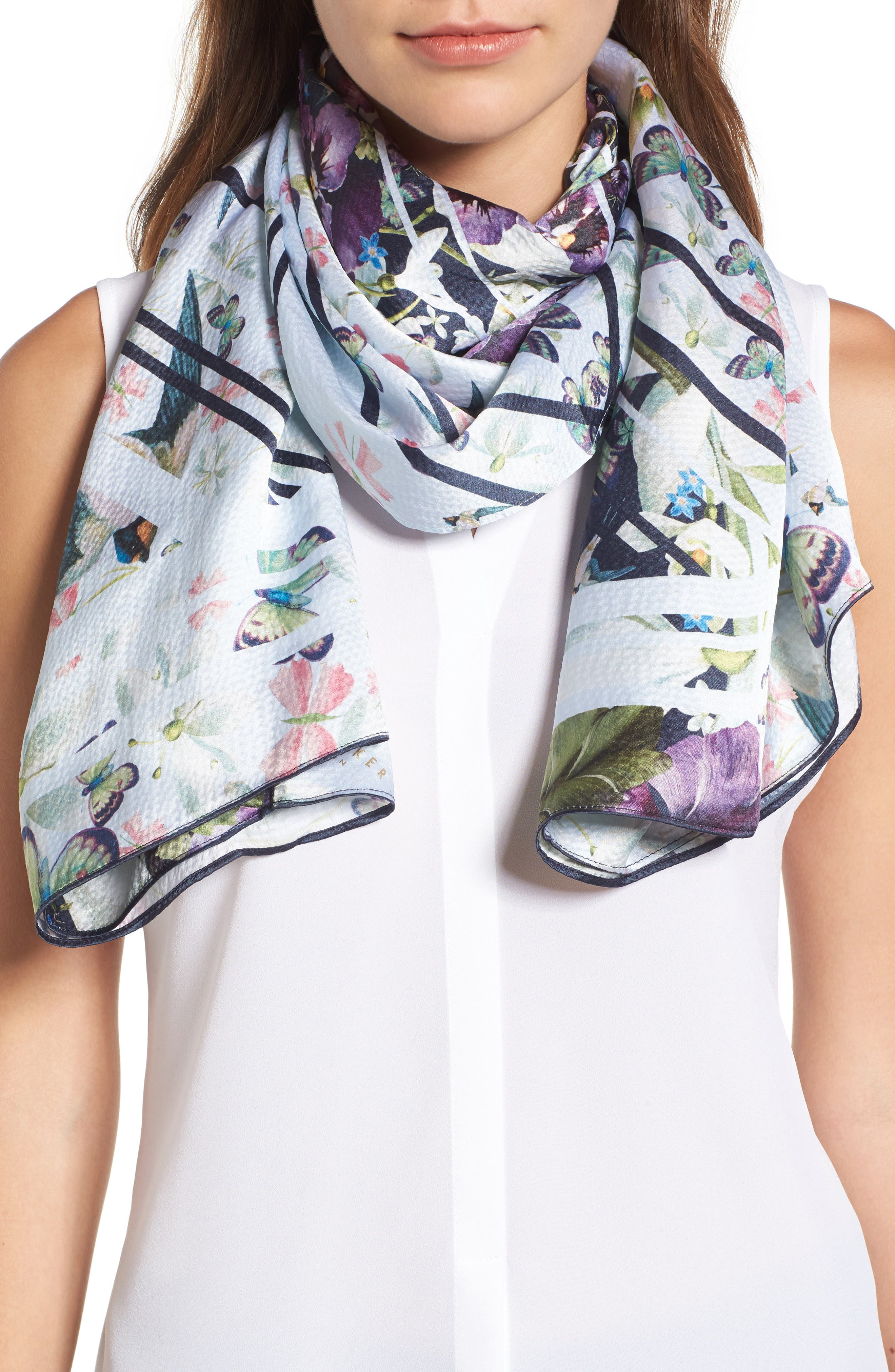 Alternate Image 4  - Ted Baker London Elva Enchantment Cape Scarf