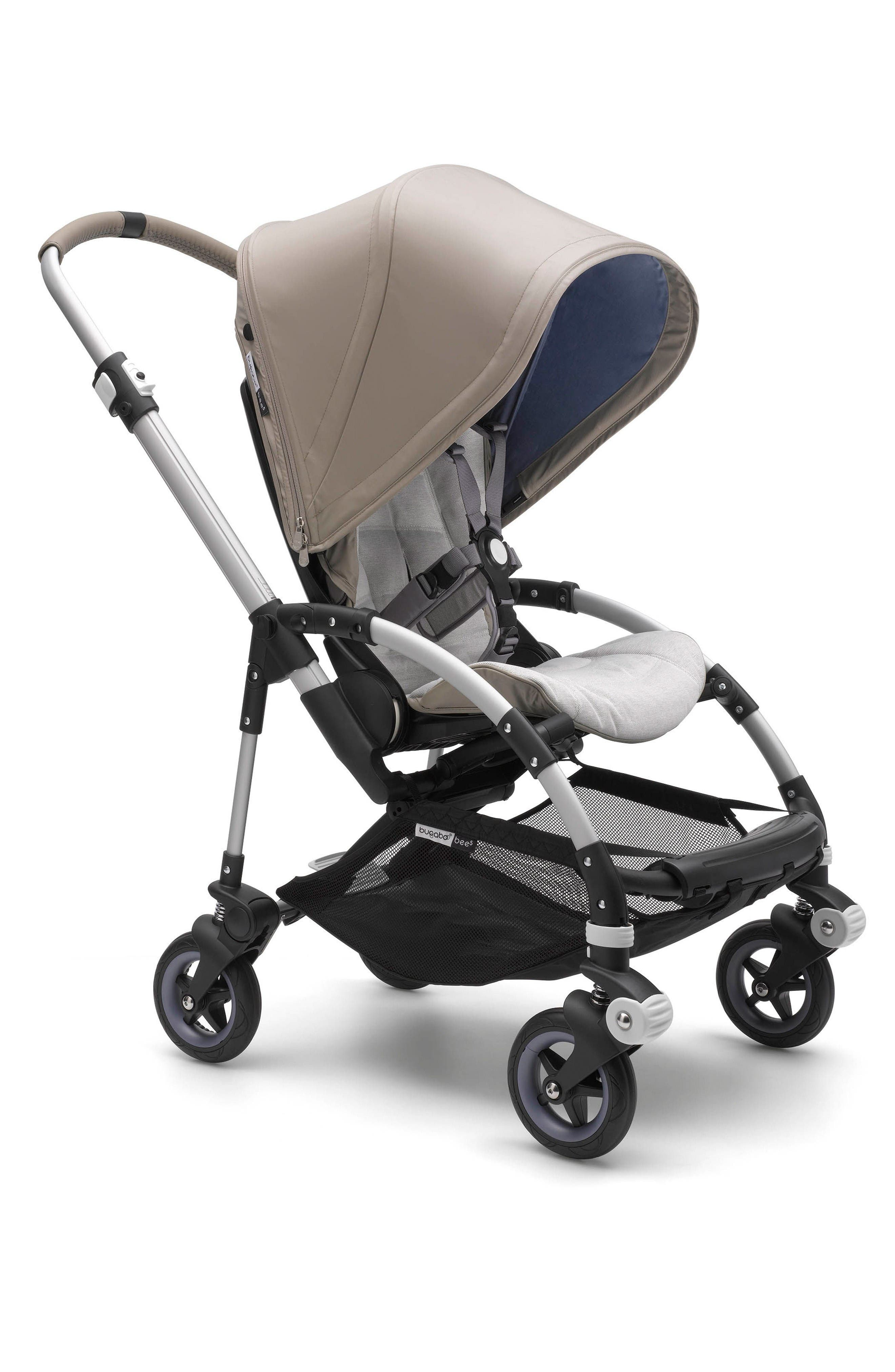 Bugaboo Bee5 Two-Tone Taupe Limited Edition Stroller with Lavender Accents