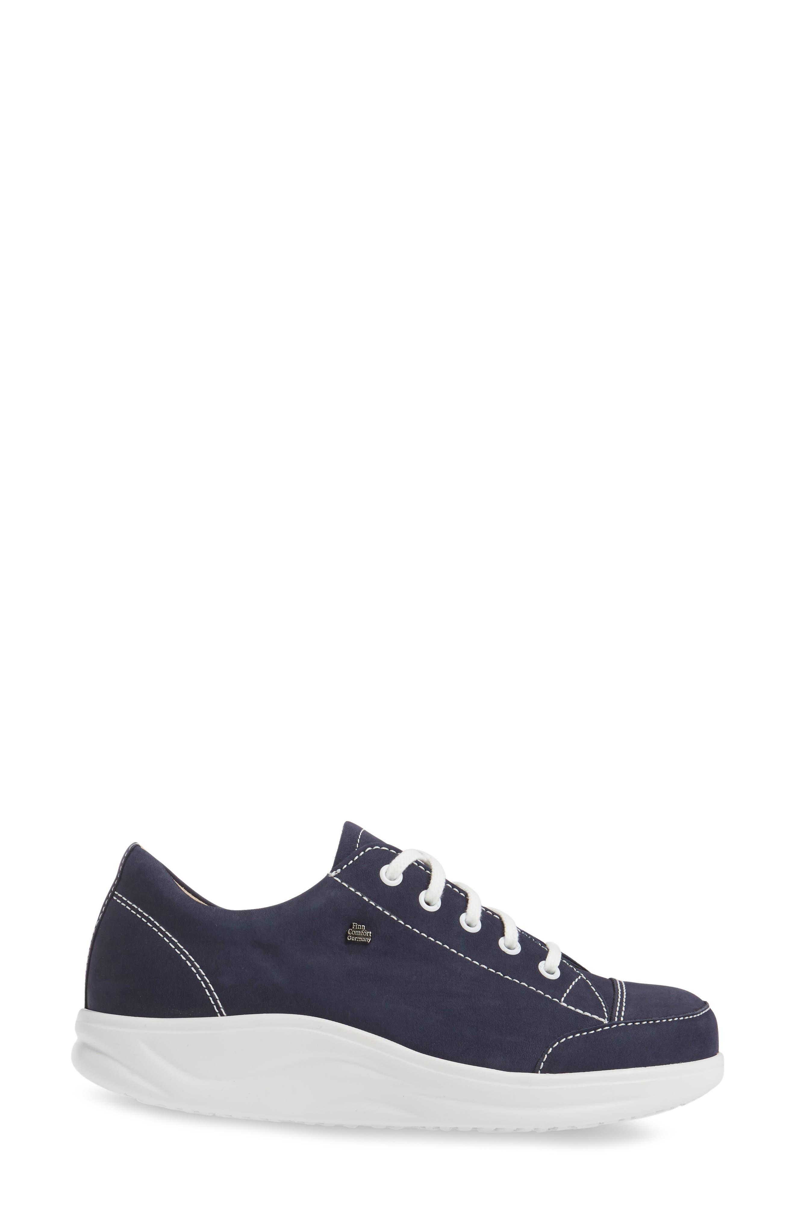 FINNAMIC by Finn Comfort 'Ikebukuro' Walking Shoe,                             Alternate thumbnail 3, color,                             Atlantic Leather