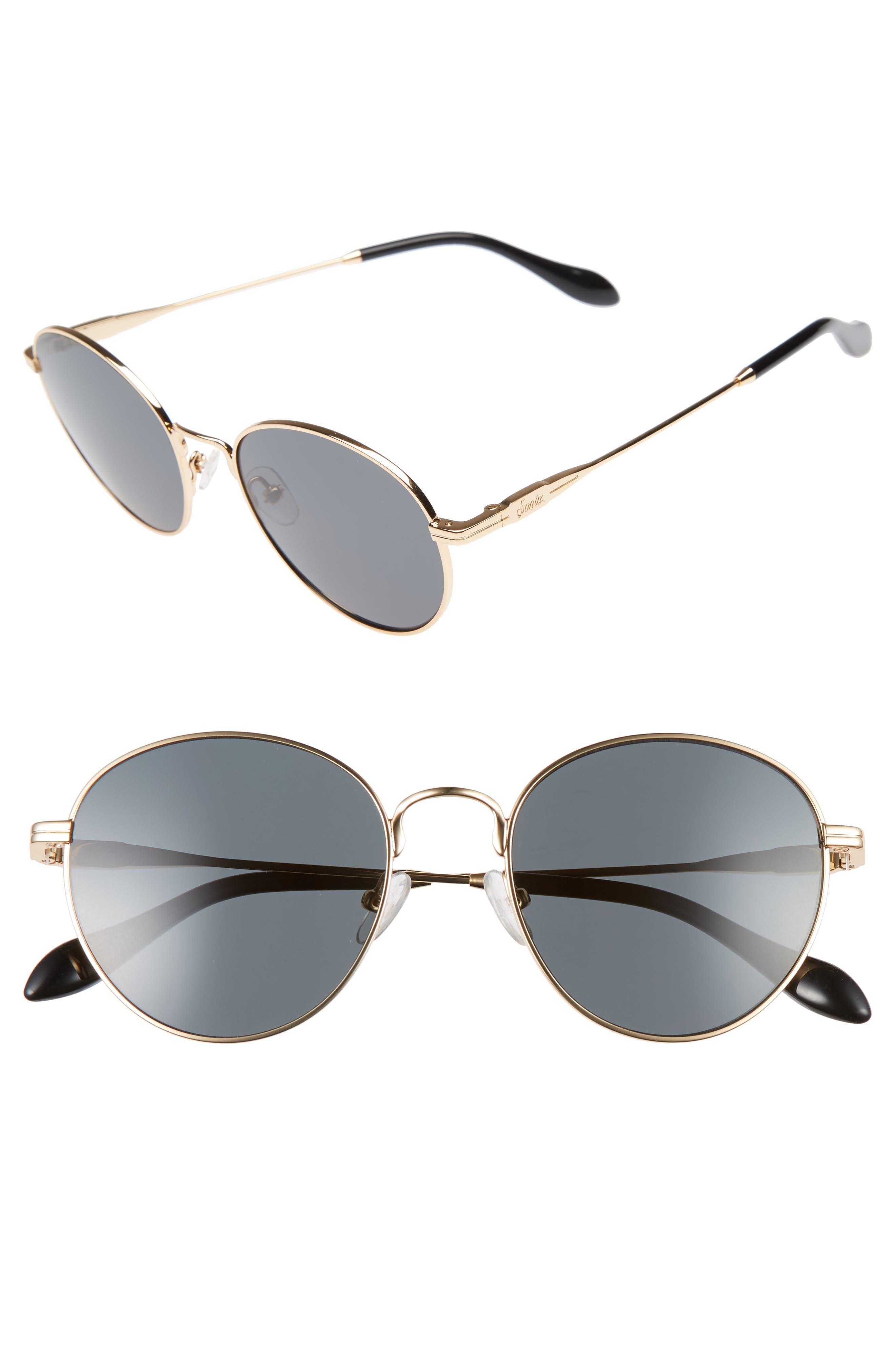 Sonix Ace 51mm Round Sunglasses