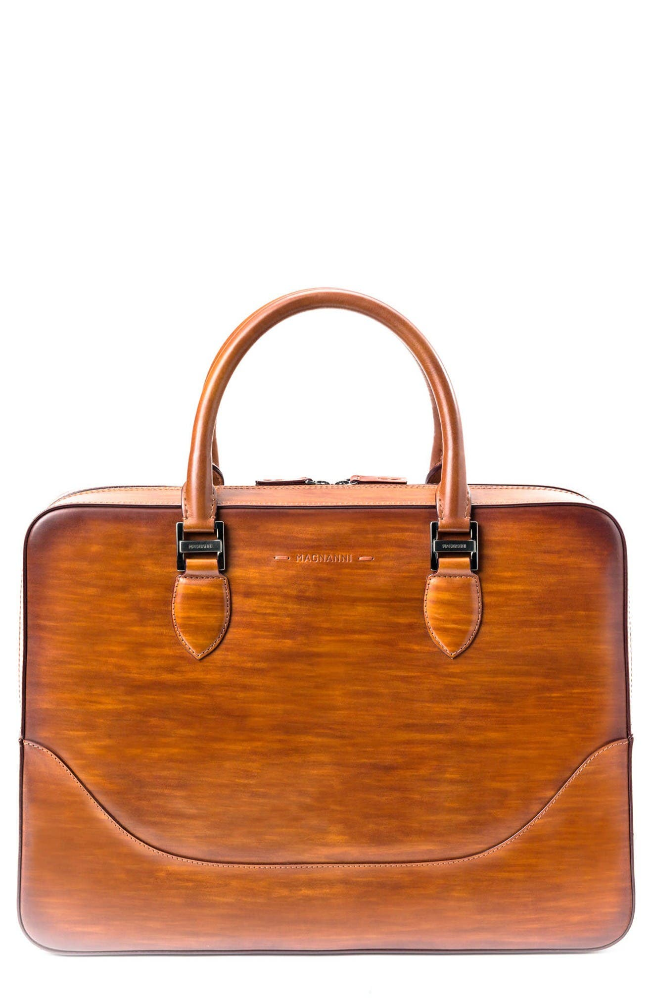 MAGNANNI Medium Leather Briefcase
