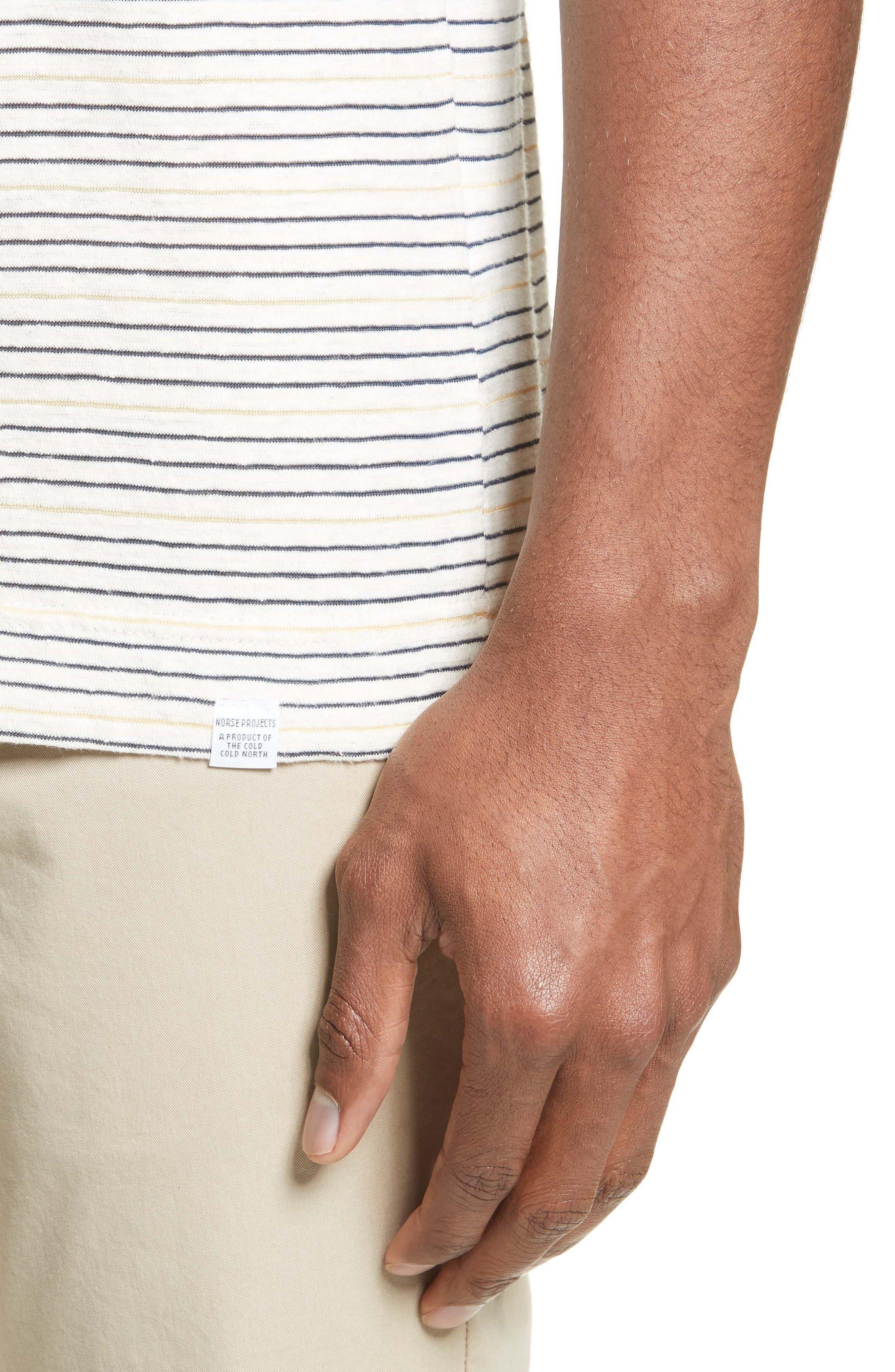 Stripe T-Shirt,                             Alternate thumbnail 4, color,                             Dried Olive/ Ecru