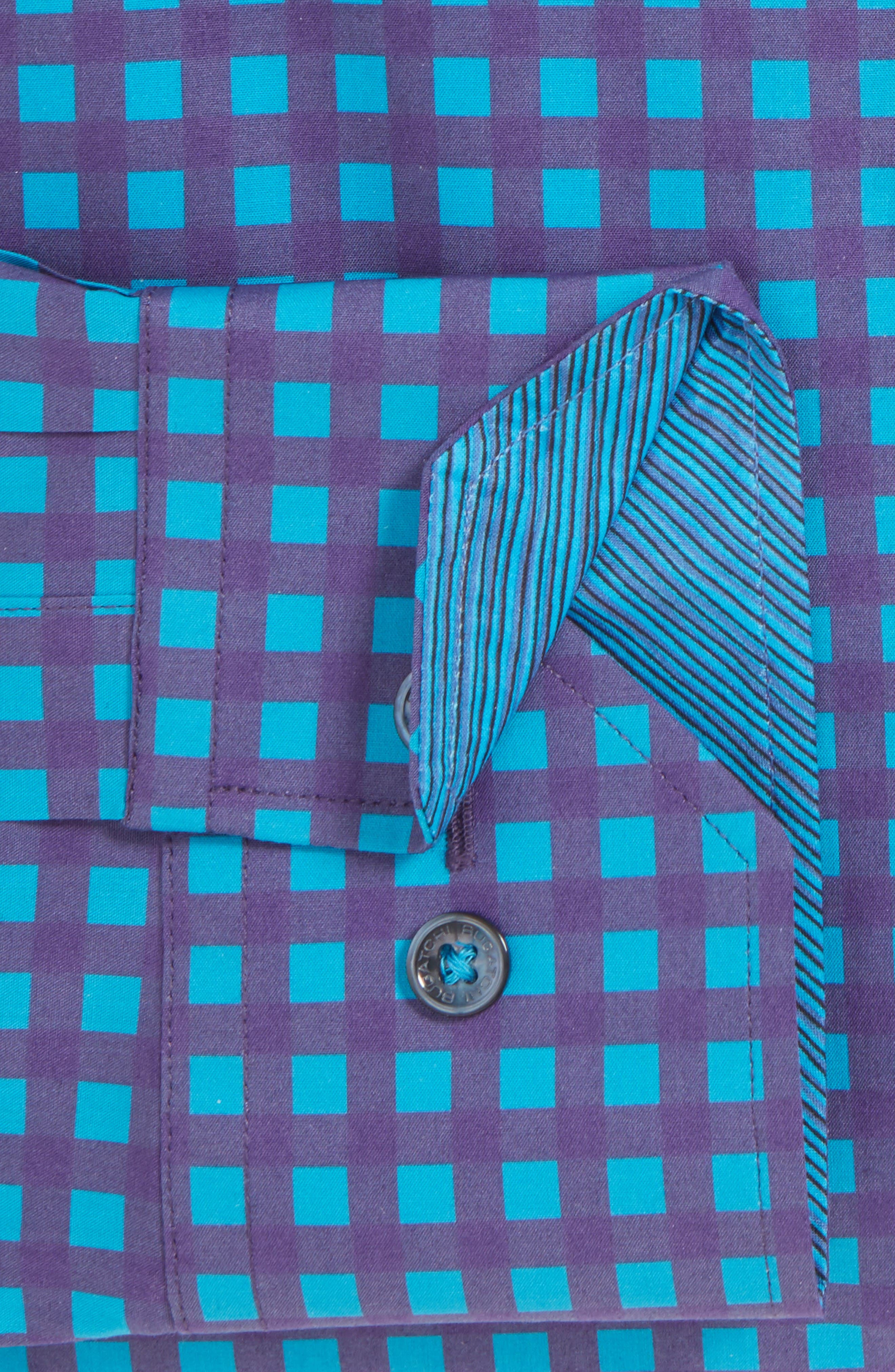 Classic Fit Sport Shirt,                             Alternate thumbnail 4, color,                             Plum