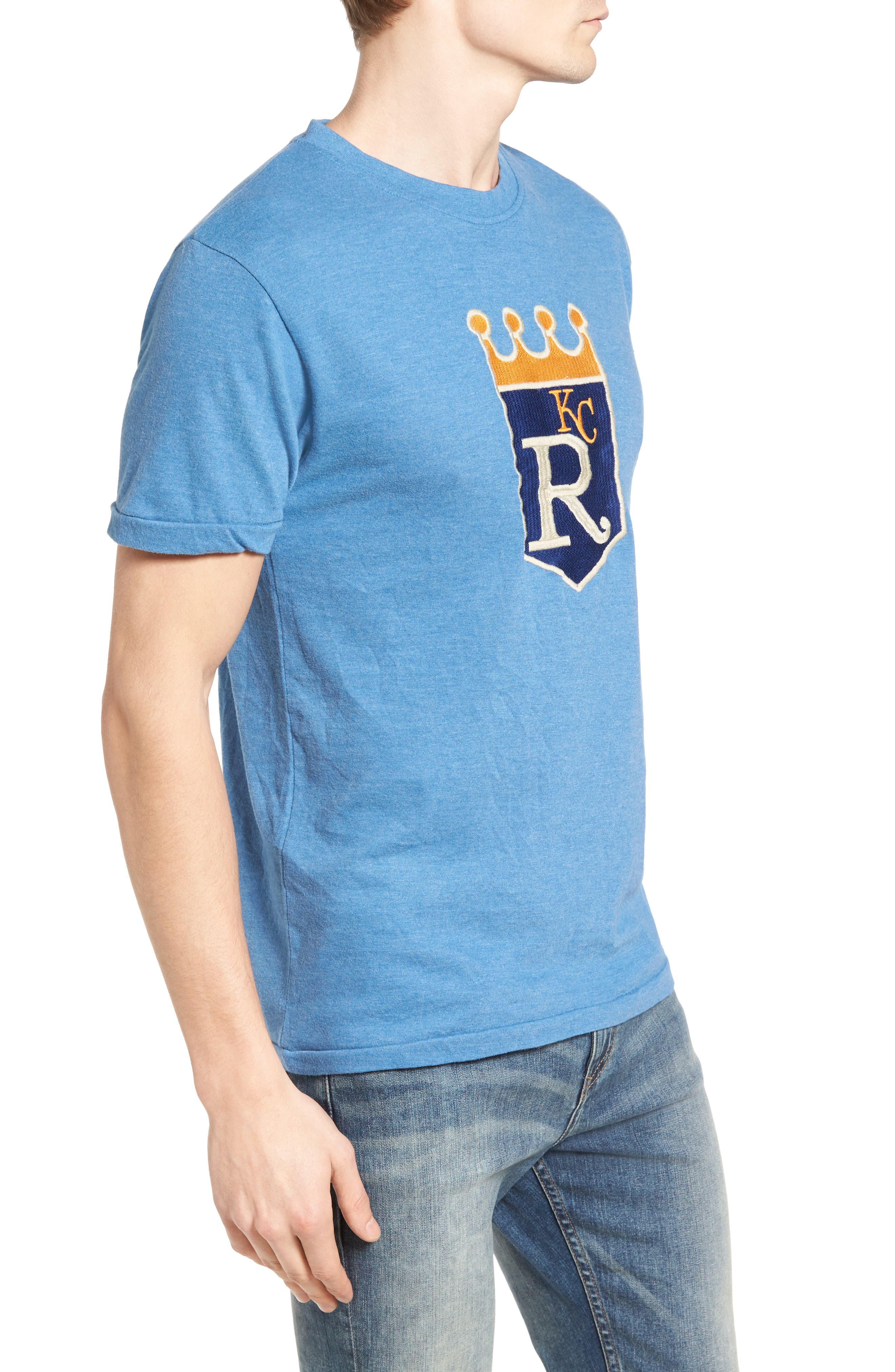 Hillwood Kansas City Royals T-Shirt,                             Alternate thumbnail 3, color,                             Heather Royal