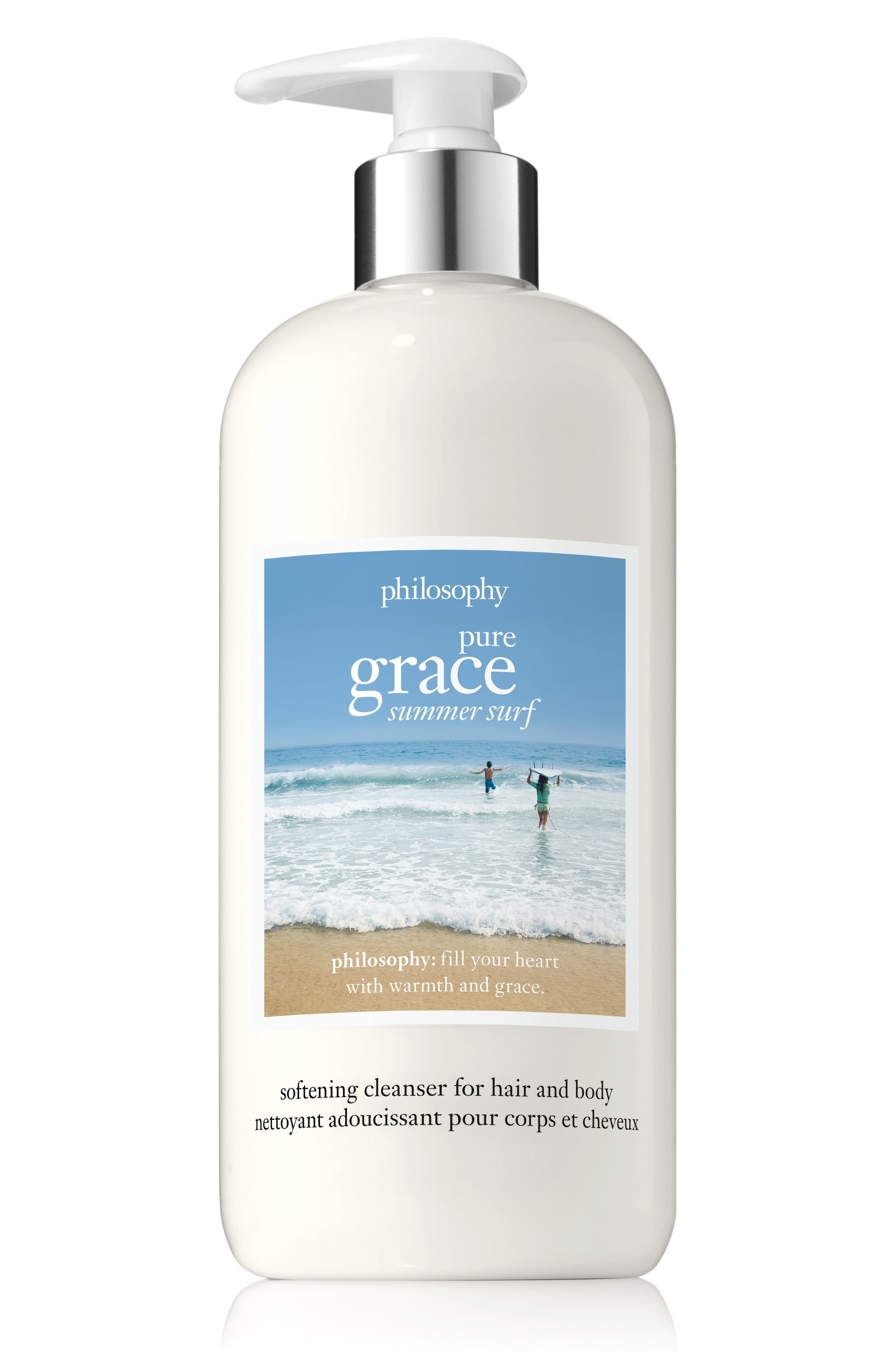 pure grace summer surf softening cleanser for hair and body,                         Main,                         color, No Color