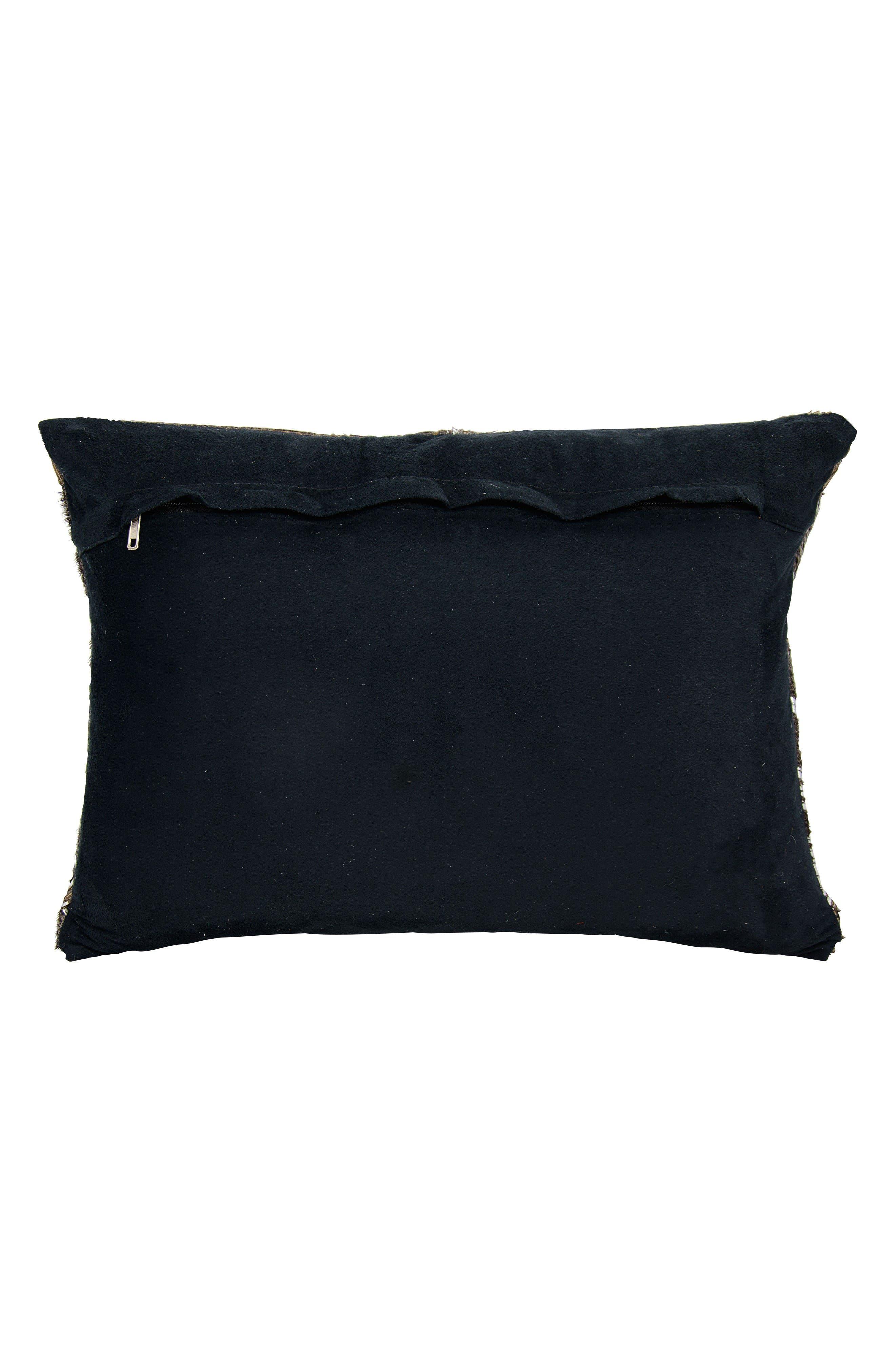 Alternate Image 2  - Mina Victory Metallic Calf Hair Accent Pillow