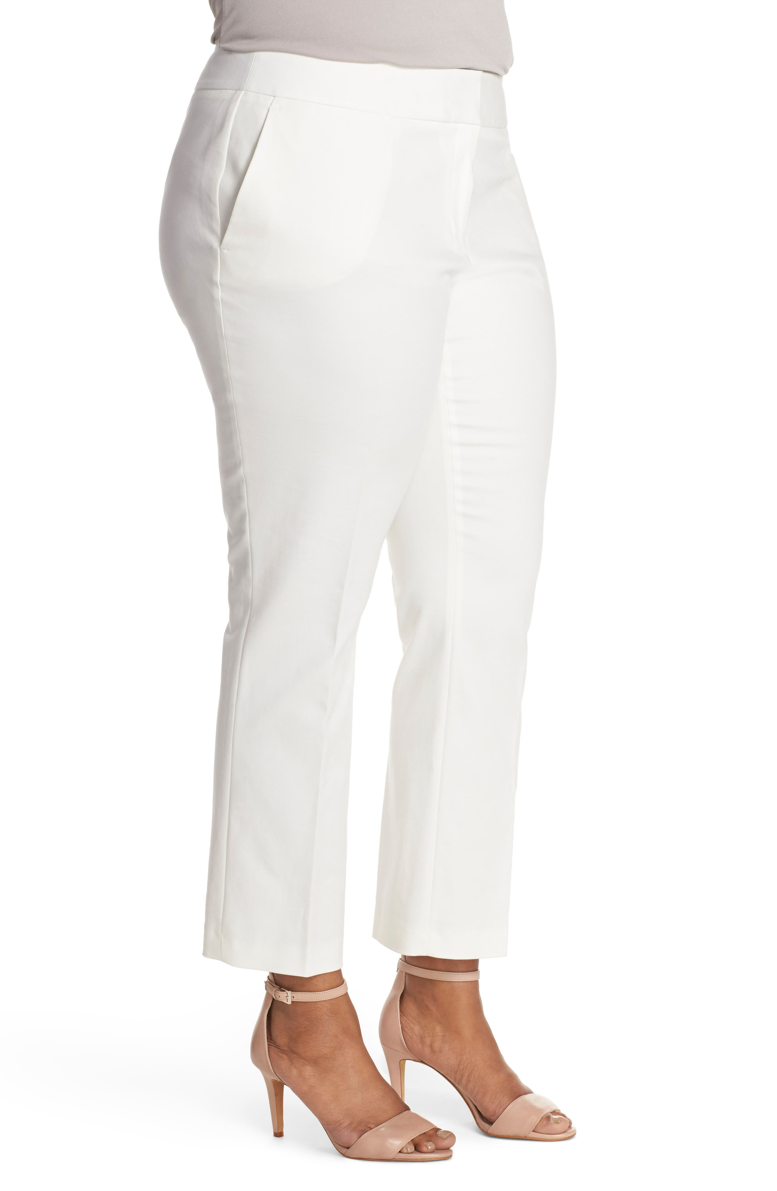 Wide Leg Trousers,                             Alternate thumbnail 3, color,                             New Ivory