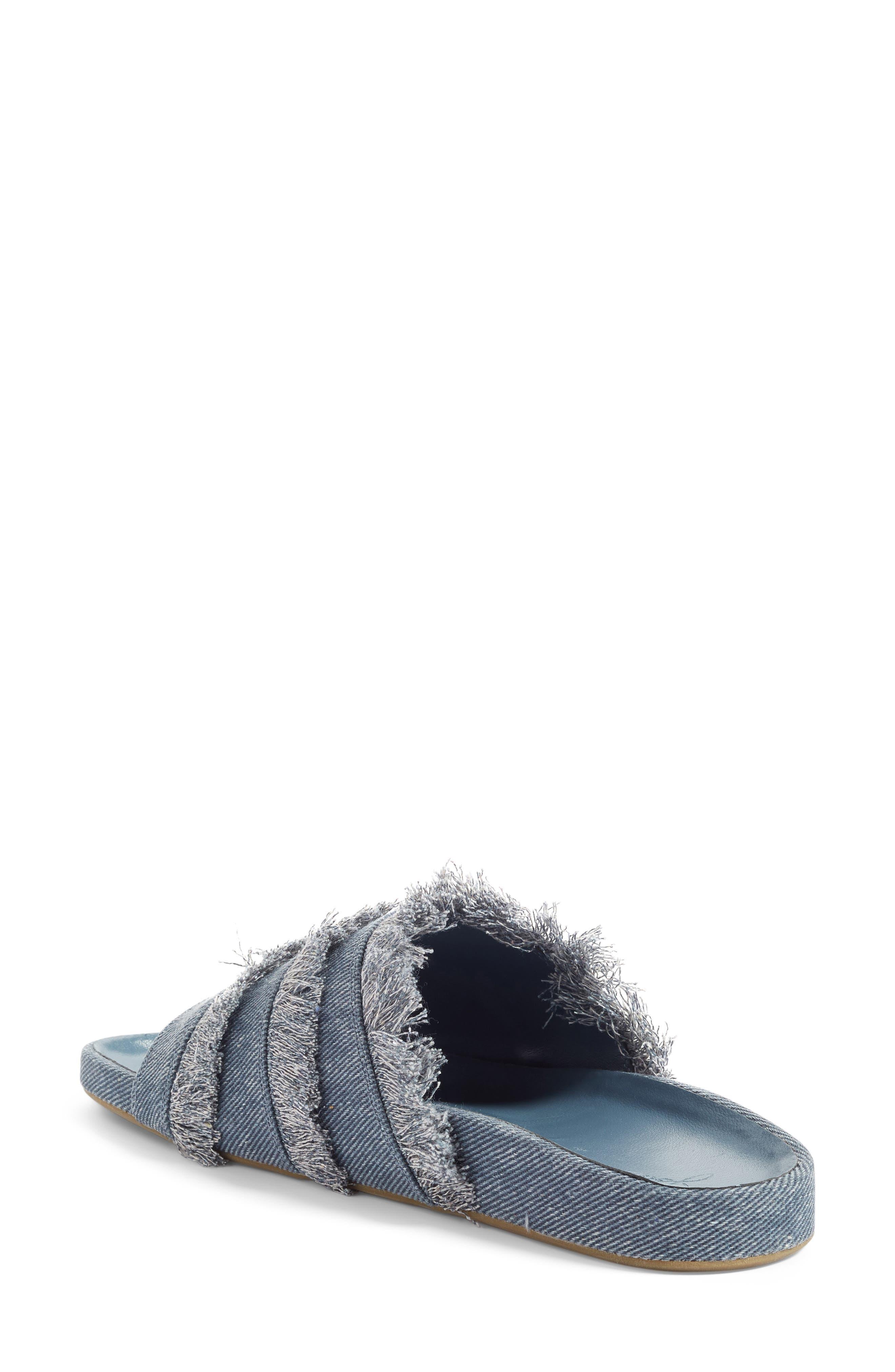 Jaden Slide Sandal,                             Alternate thumbnail 2, color,                             Dark Denim