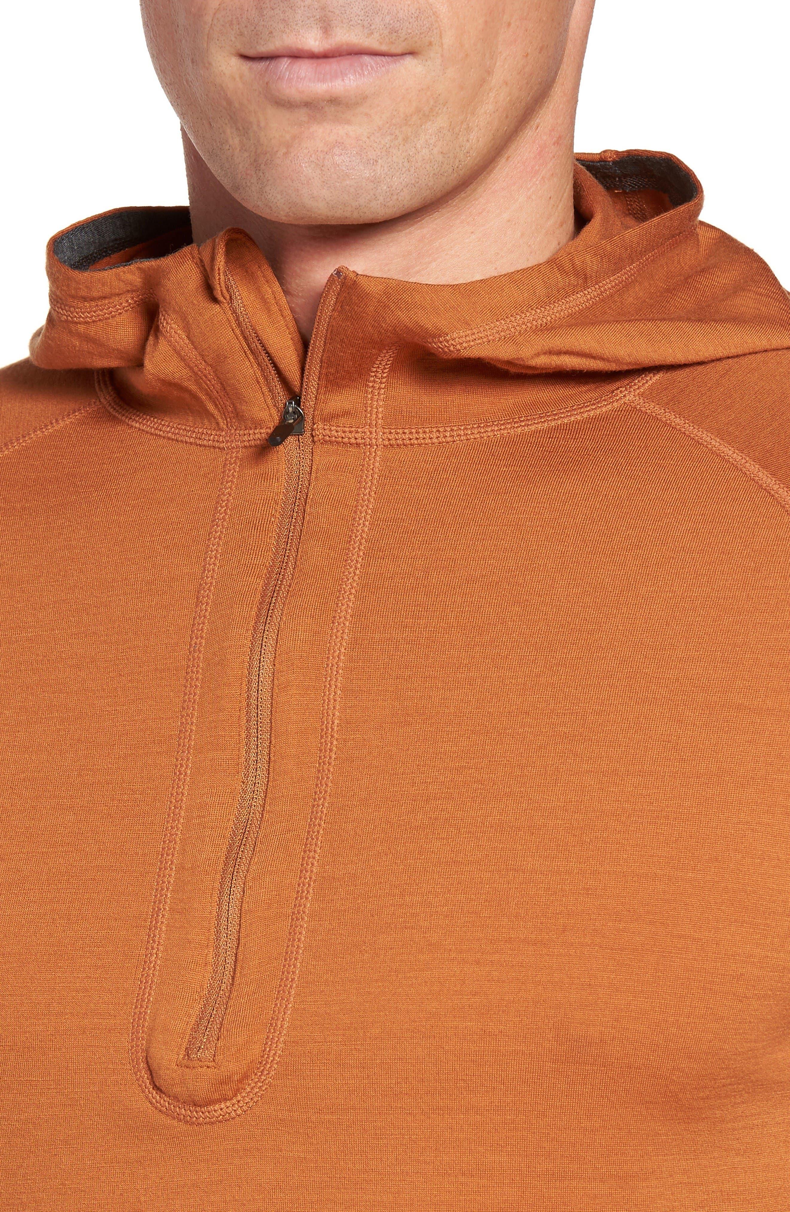 Alternate Image 4  - ibex 'Indie' Merino Wool Half Zip Hoodie