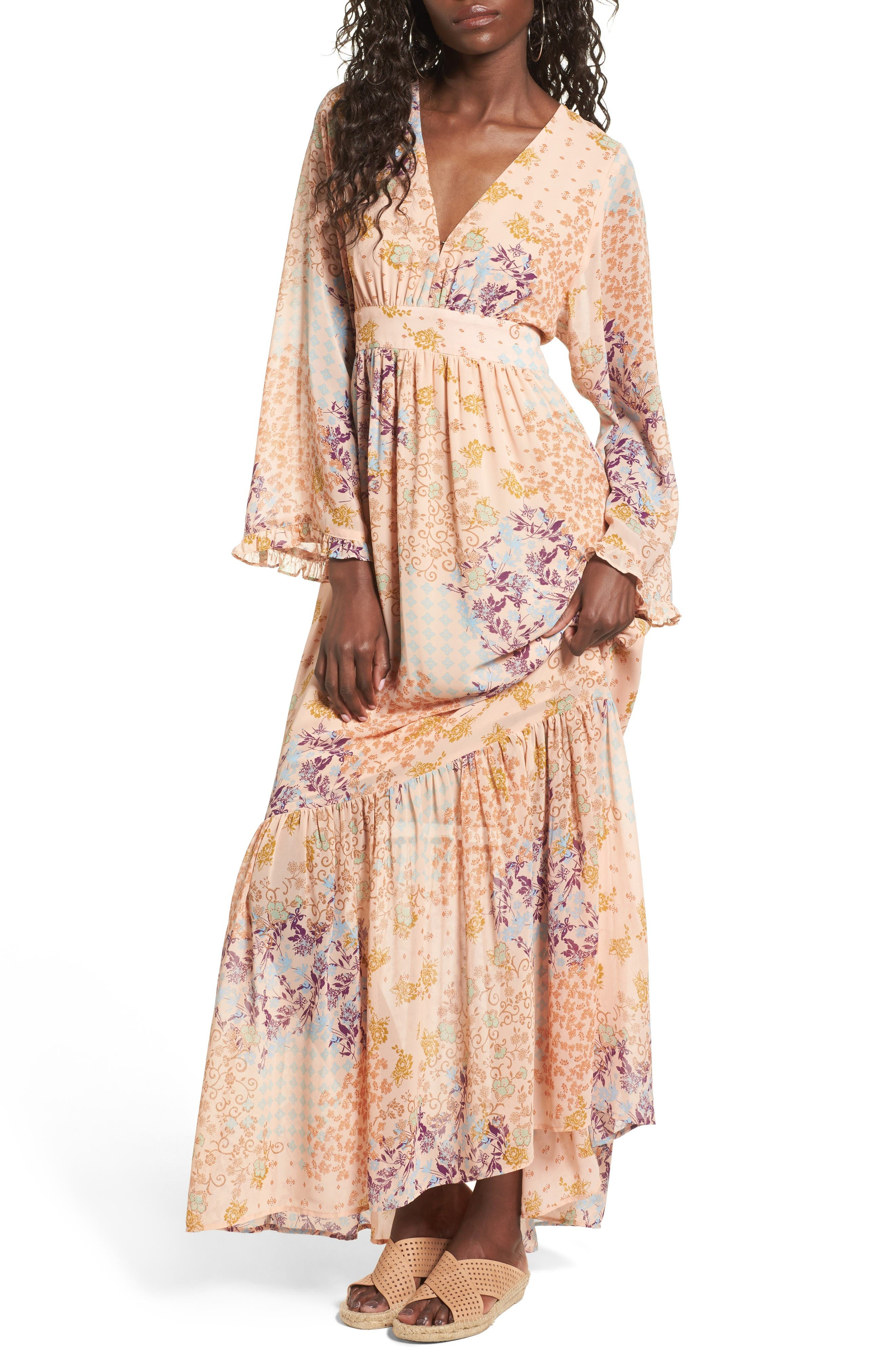 Main Image - WAYF Viola Bell Sleeve Maxi Dress