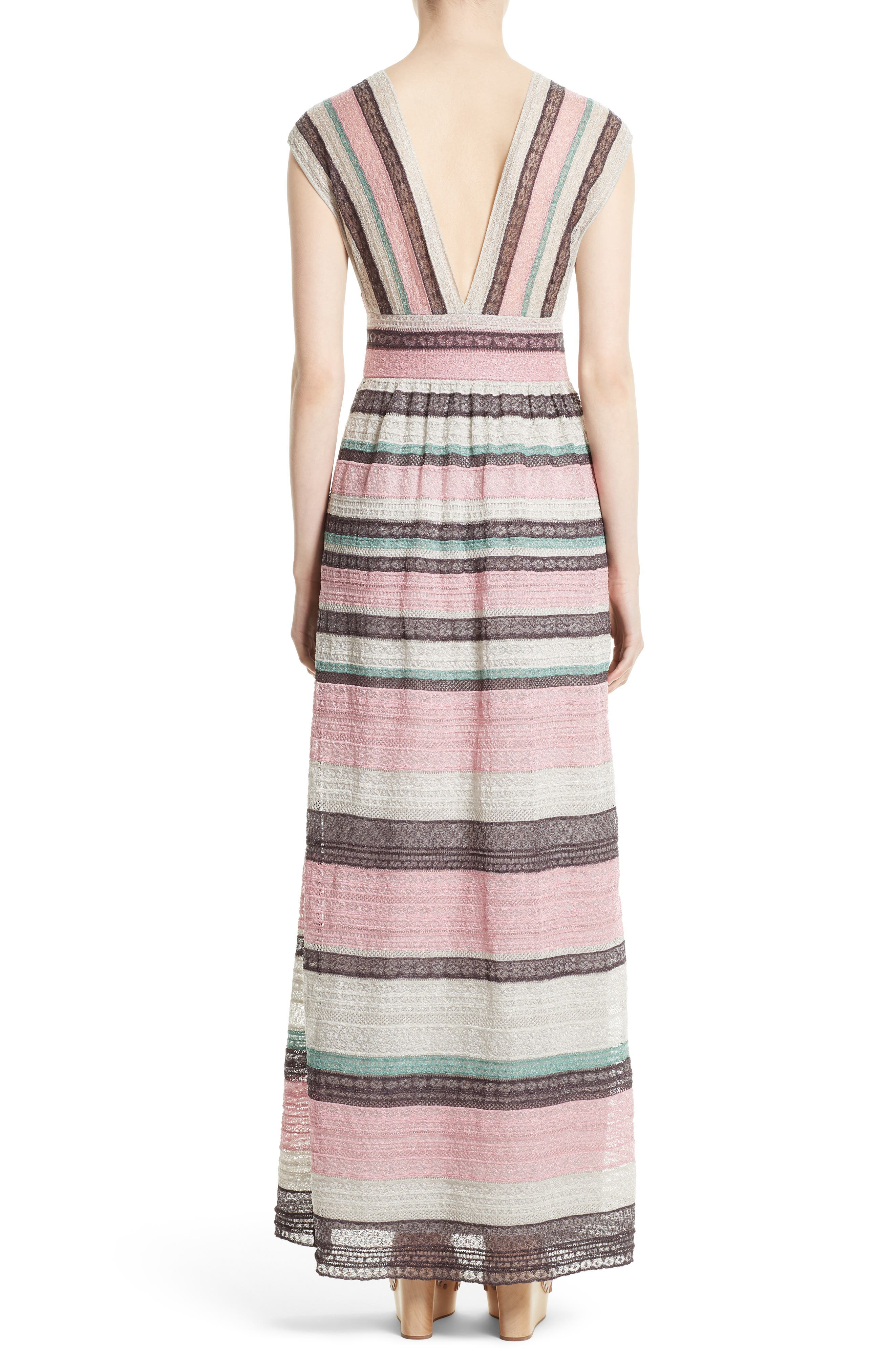 Alternate Image 2  - M Missoni Lace Stripe Maxi Dress