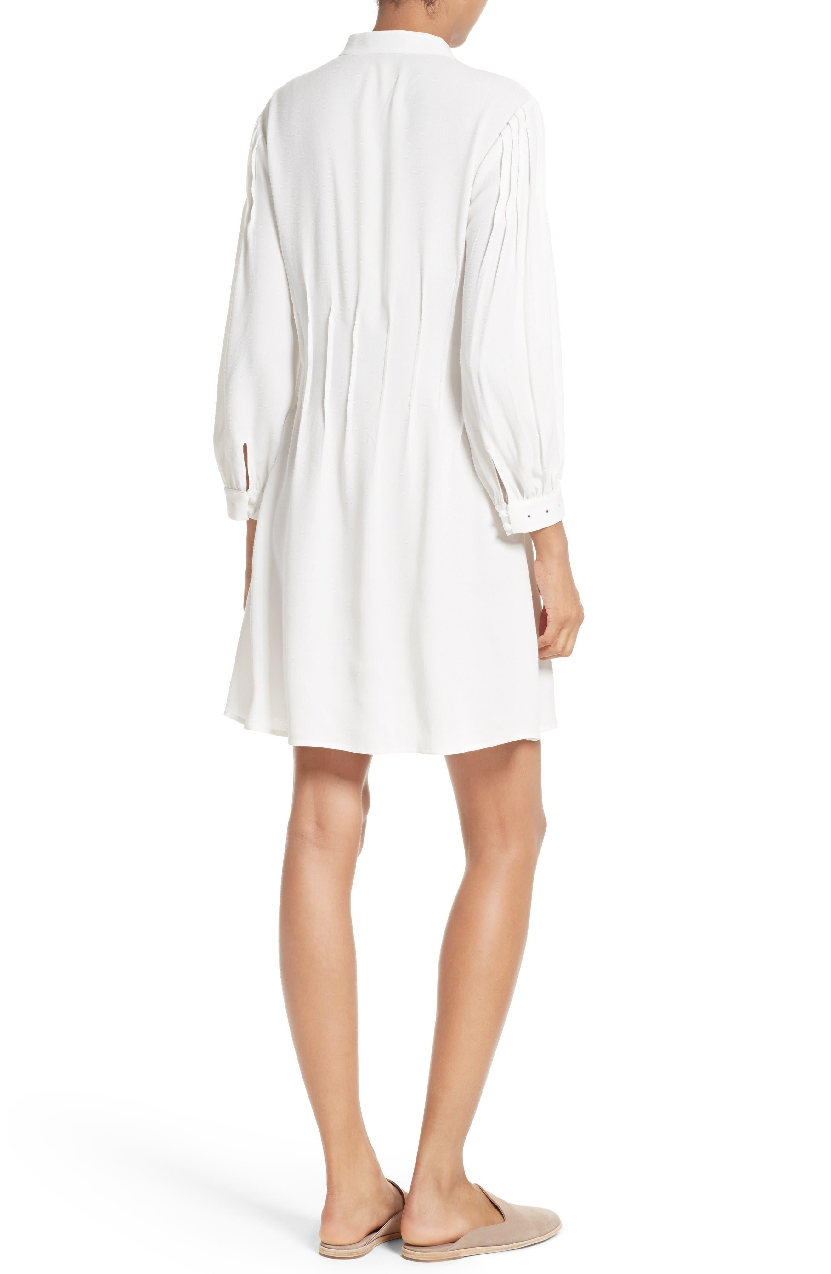 Alternate Image 2  - FRAME Pleated Eyelet Dress