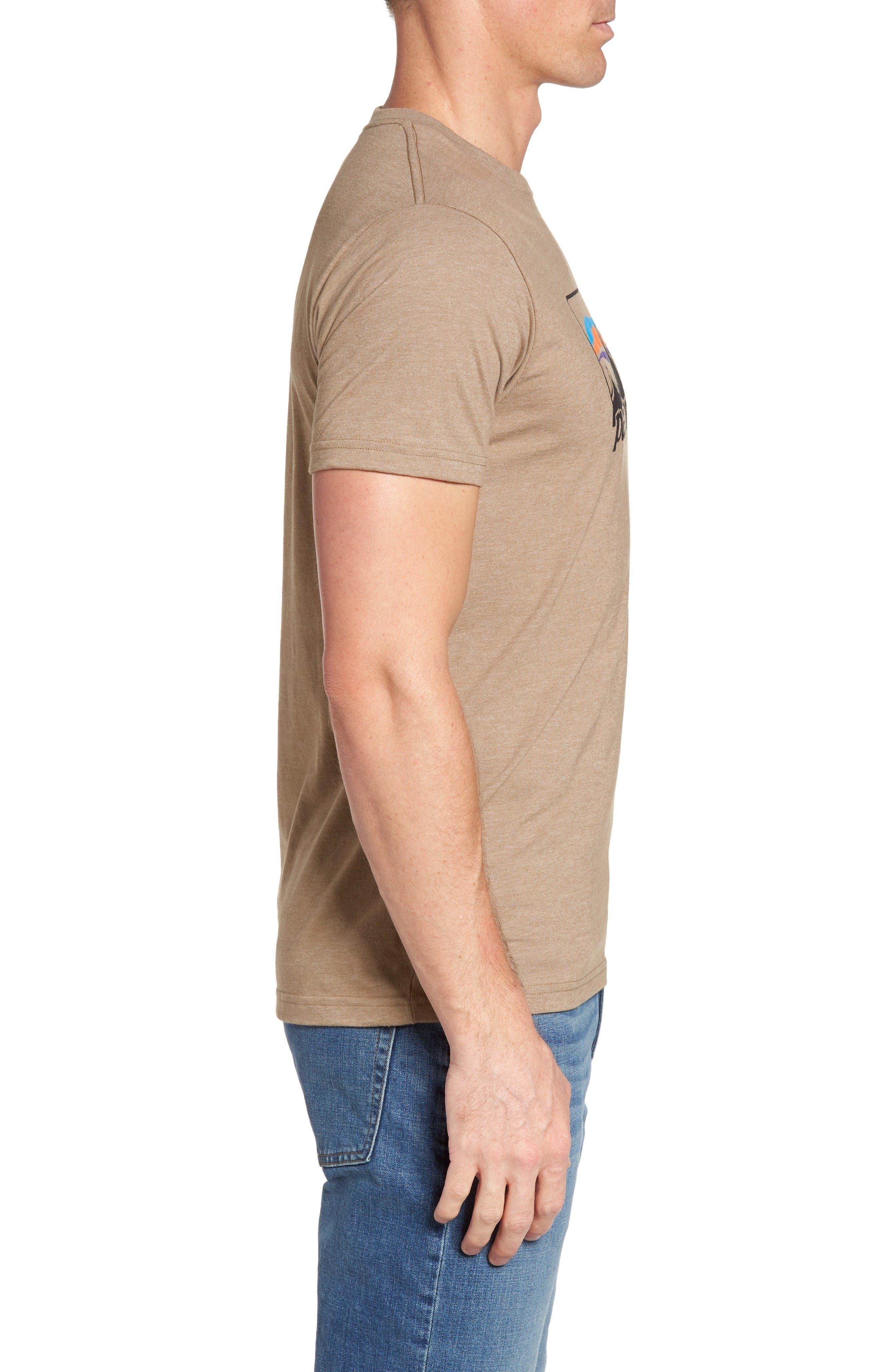 '73 Logo Regular Fit T-Shirt,                             Alternate thumbnail 3, color,                             Mojave Khaki