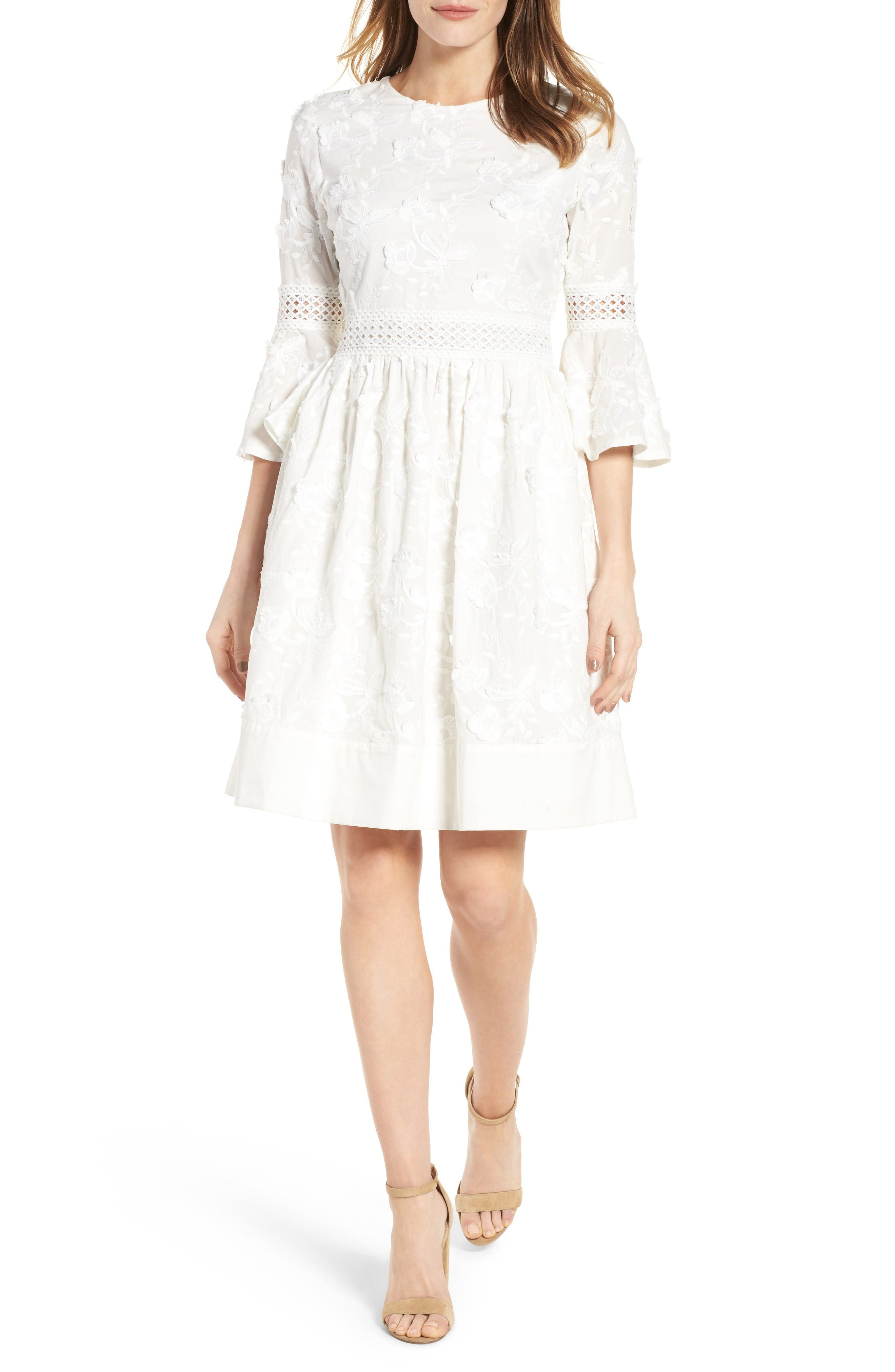 Alternate Image 1 Selected - Eliza J Fit & Flare Dress (Regular & Petite)