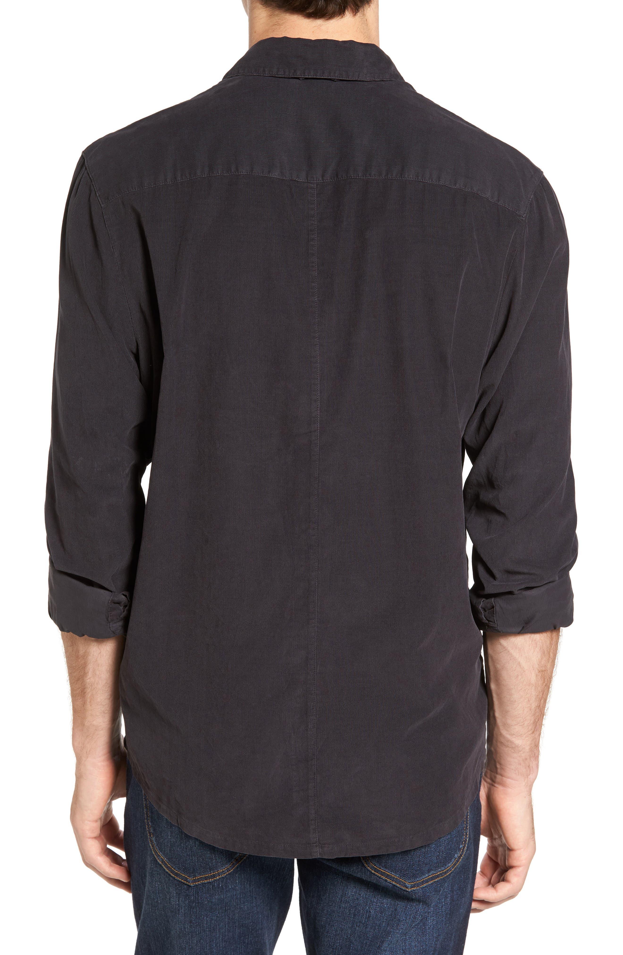 Corduroy Sport Shirt,                             Alternate thumbnail 2, color,                             Carbon Pigment
