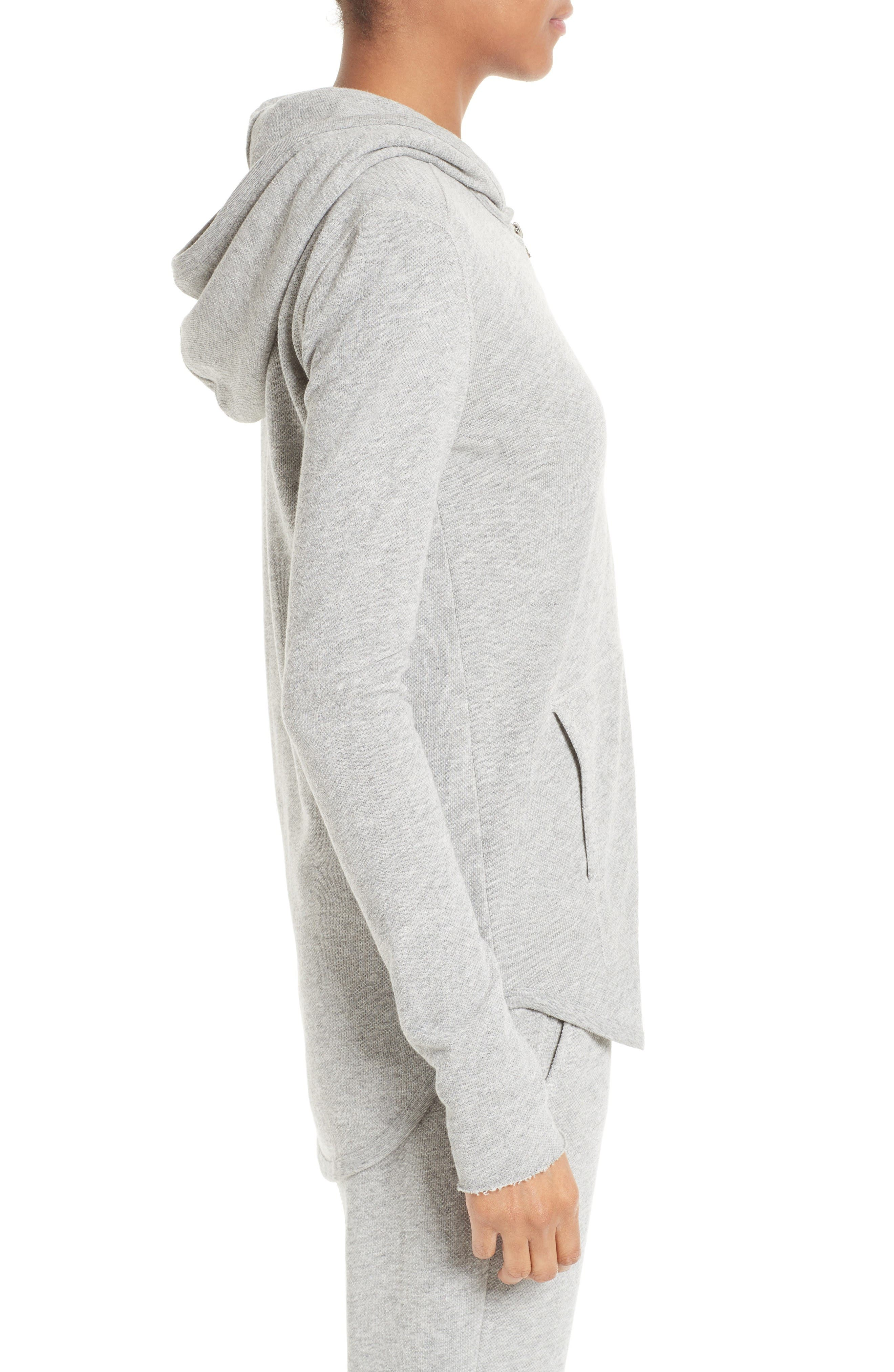 French Terry Zip Hoodie,                             Alternate thumbnail 3, color,                             Heather Grey